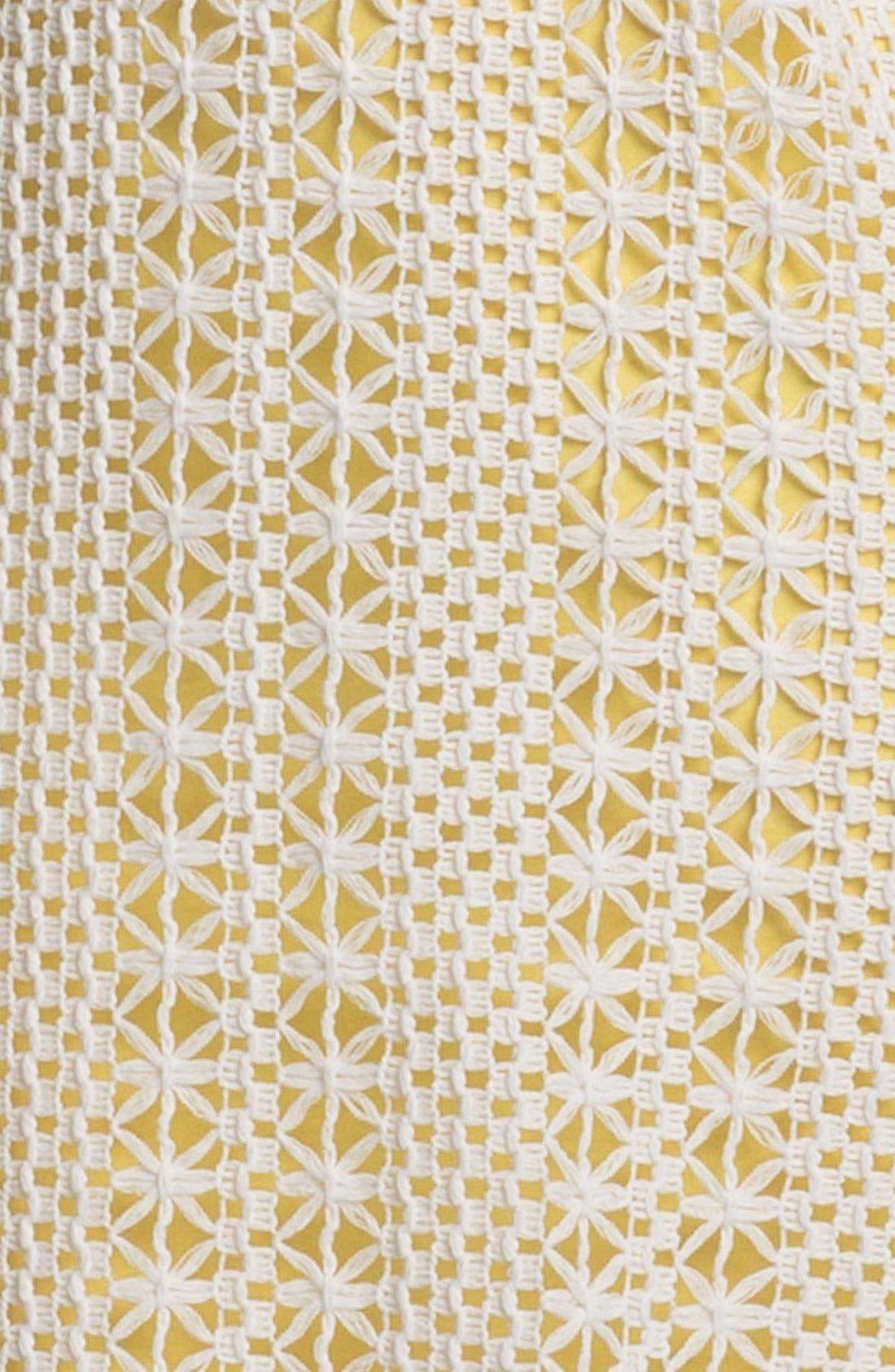 Alternate Image 3  - Press Crochet Overlay Dress