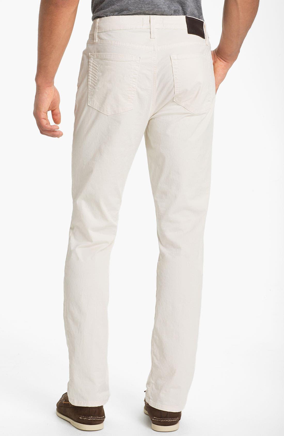 Alternate Image 1 Selected - PAIGE 'Normandie' Slim Straight Leg Chinos