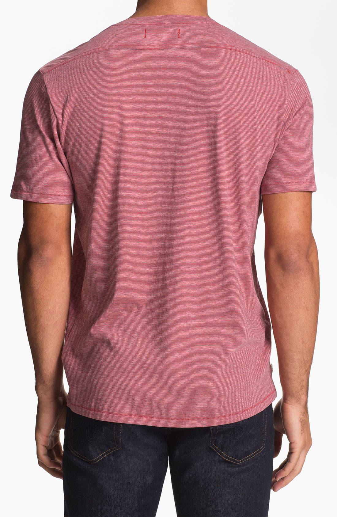 Alternate Image 2  - Cutter & Buck 'Vashon' V-Neck T-Shirt (Big & Tall)