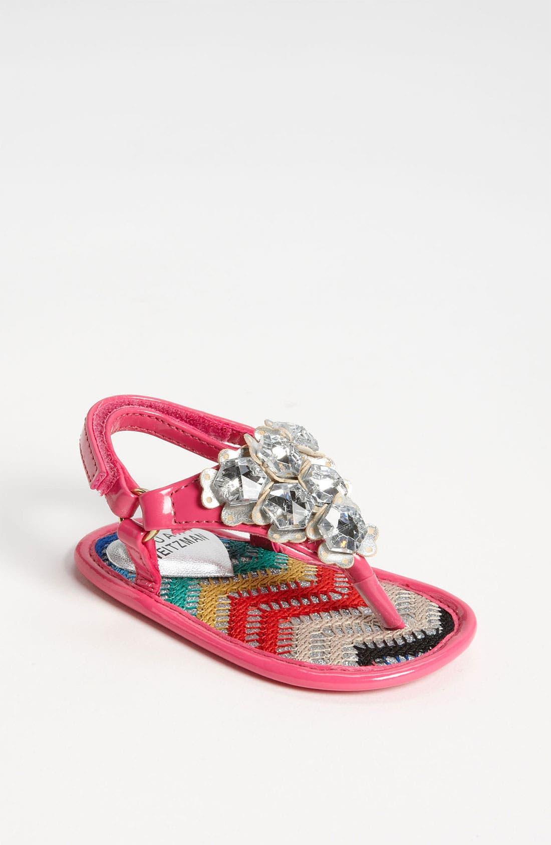 Main Image - Stuart Weitzman 'Baby Peridot' Sandal (Baby)