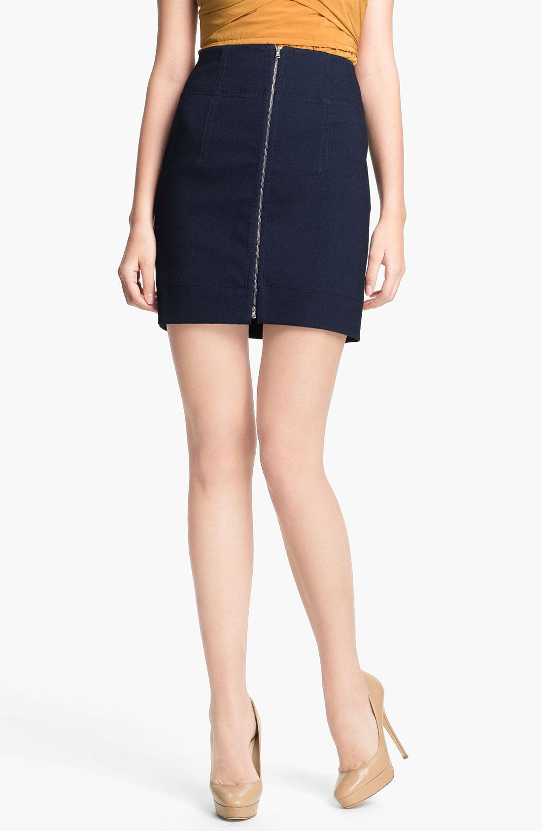 Alternate Image 1 Selected - Carven Zip Front Skirt