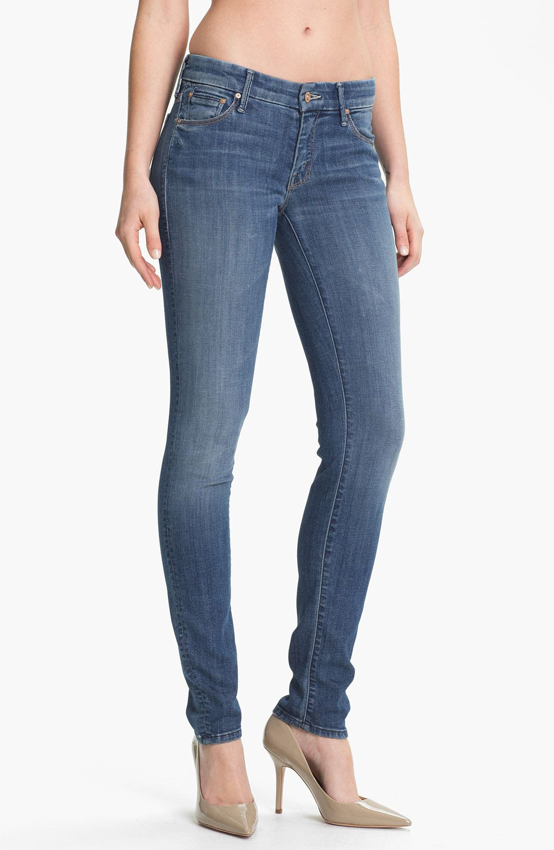 Alternate Image 1 Selected - MOTHER 'The Looker' Skinny Stretch Jeans (Medium Kitty)