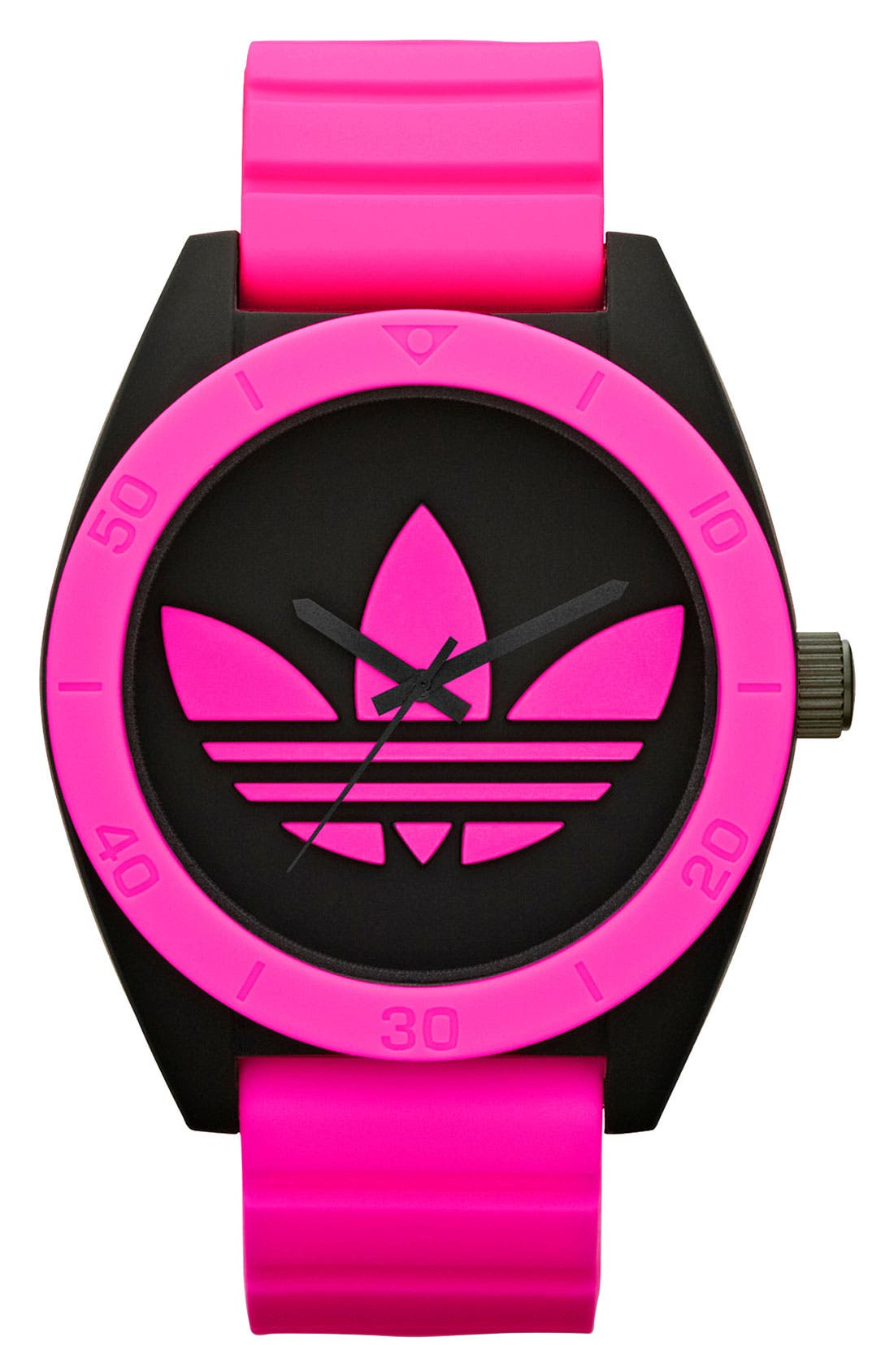 Main Image - adidas Originals 'Santiago XL' Neon Accent Watch, 50mm