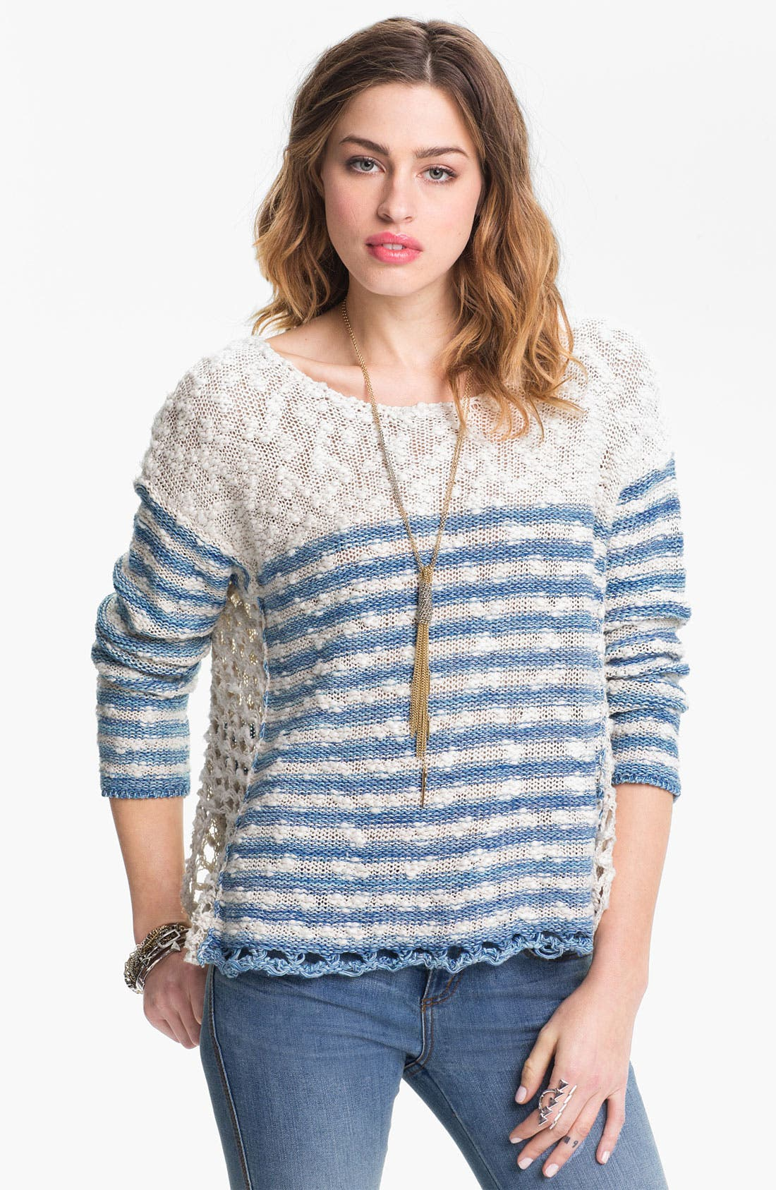 Main Image - Free People 'French Creek' Slub Cotton Sweater
