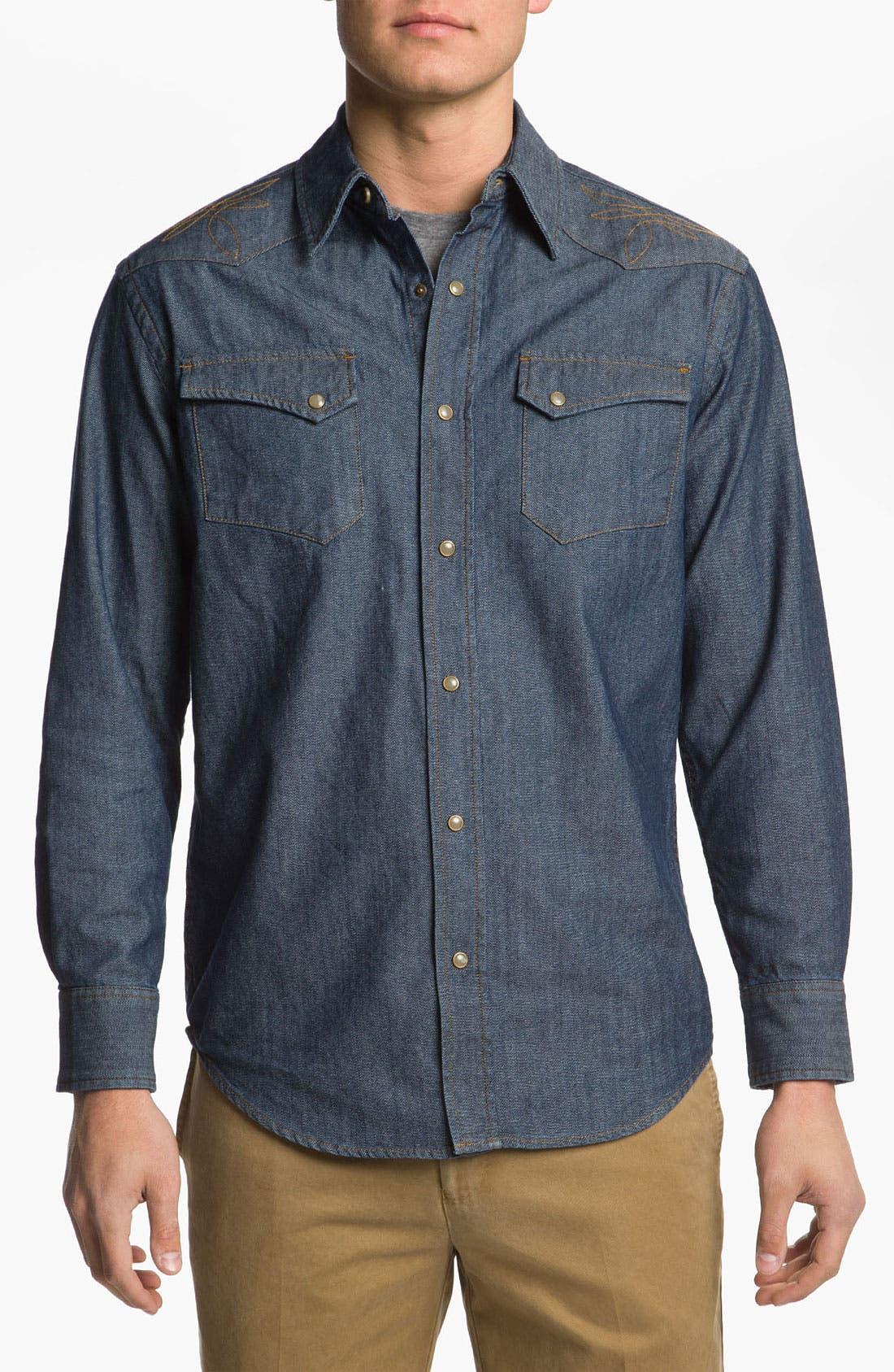 Main Image - Pendleton Fitted Denim Shirt