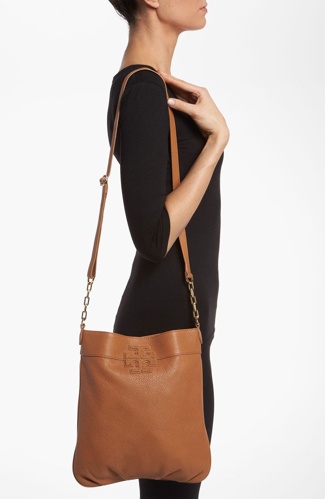 Alternate Image 2  - Tory Burch 'Stacked T' Leather Book Bag