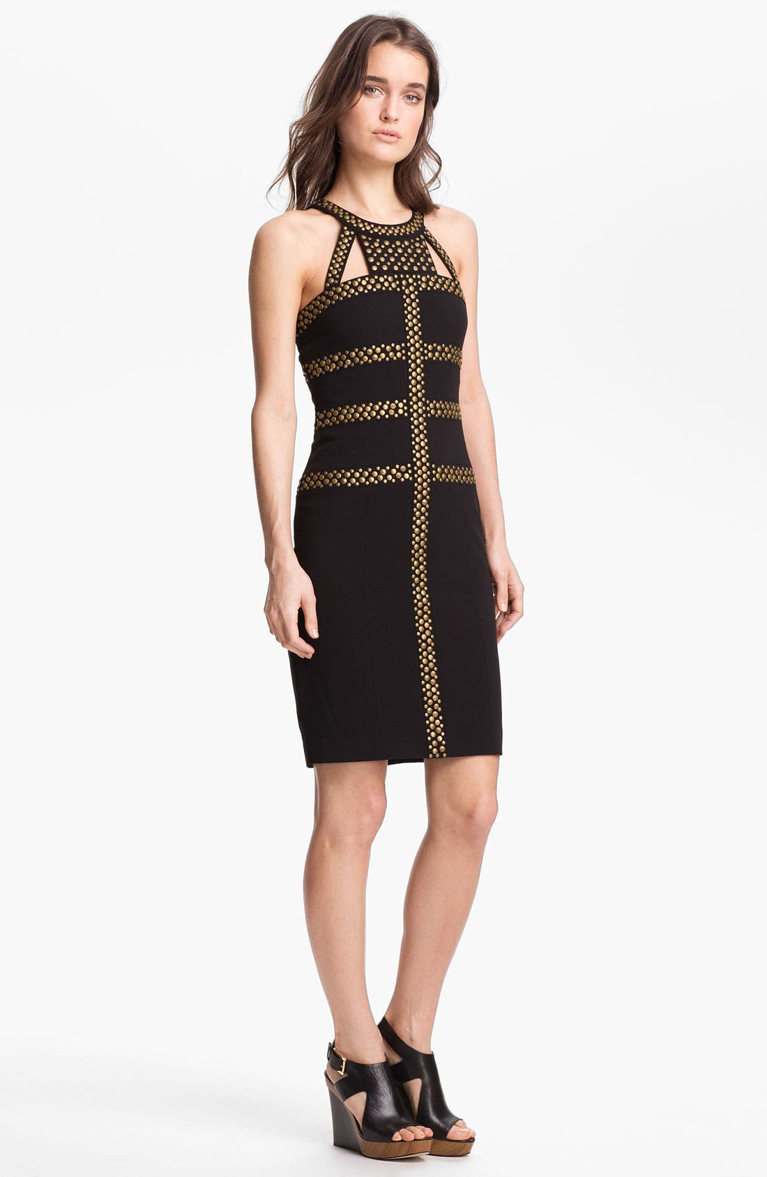 Alternate Image 1 Selected - BCBGMAXAZRIA Studded Sheath Dress