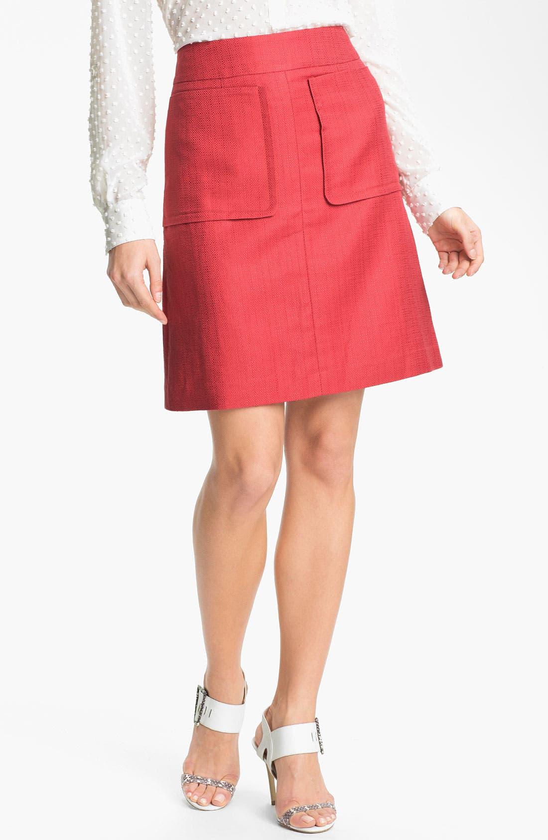 Alternate Image 1 Selected - Halogen® Patch Pocket A-Line Skirt