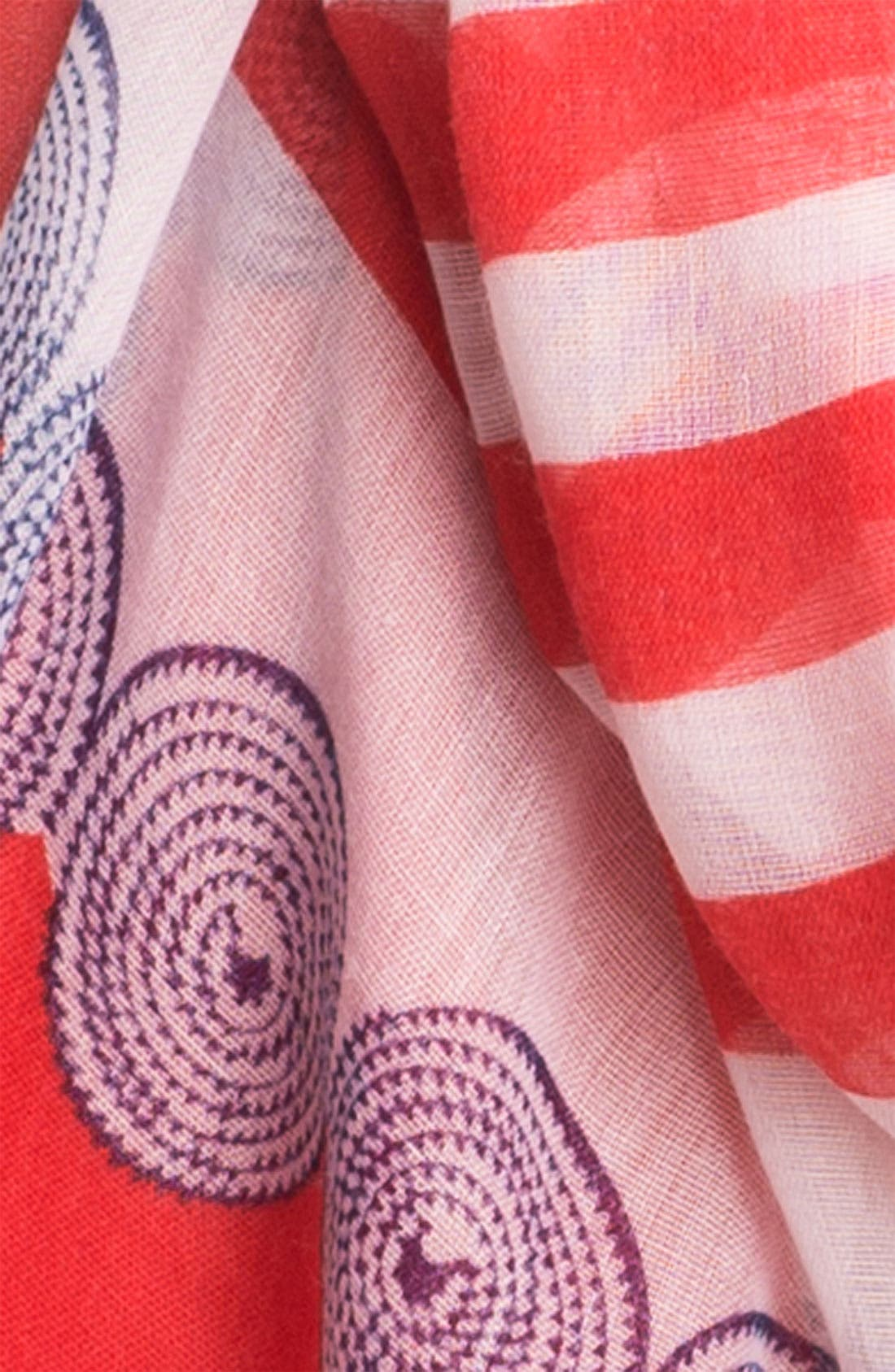 Alternate Image 2  - Nine West 'Nautical Stripe' Scarf