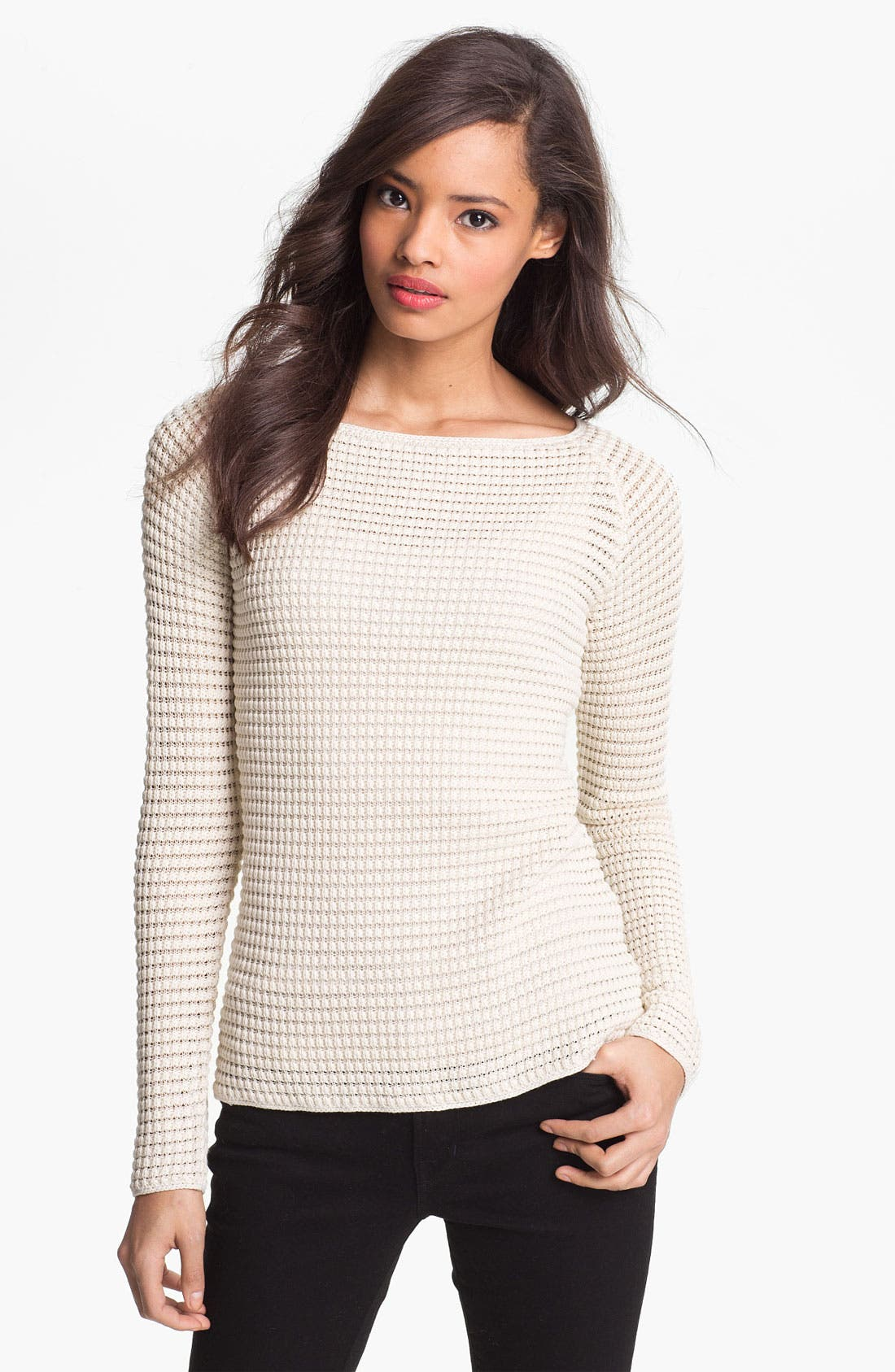 Alternate Image 1 Selected - Nordstrom Collection 'Harper' Silk & Cotton Sweater