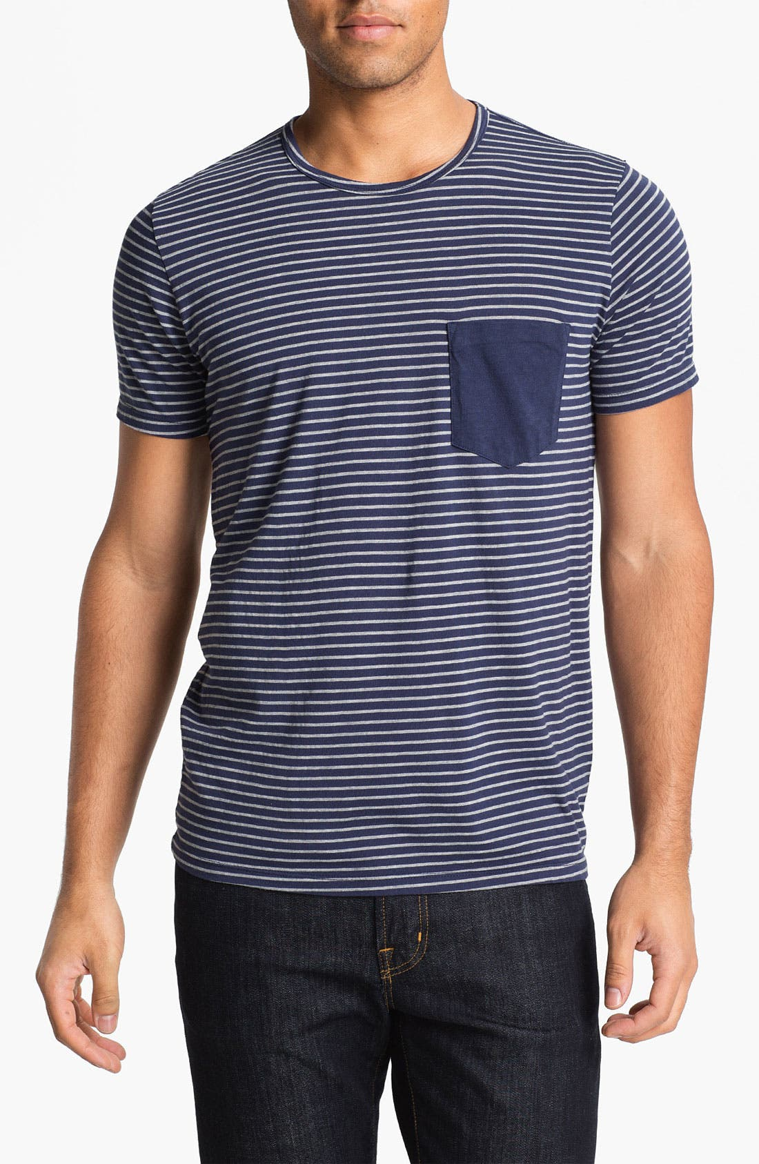 Alternate Image 1 Selected - AG Jeans Stripe T-Shirt