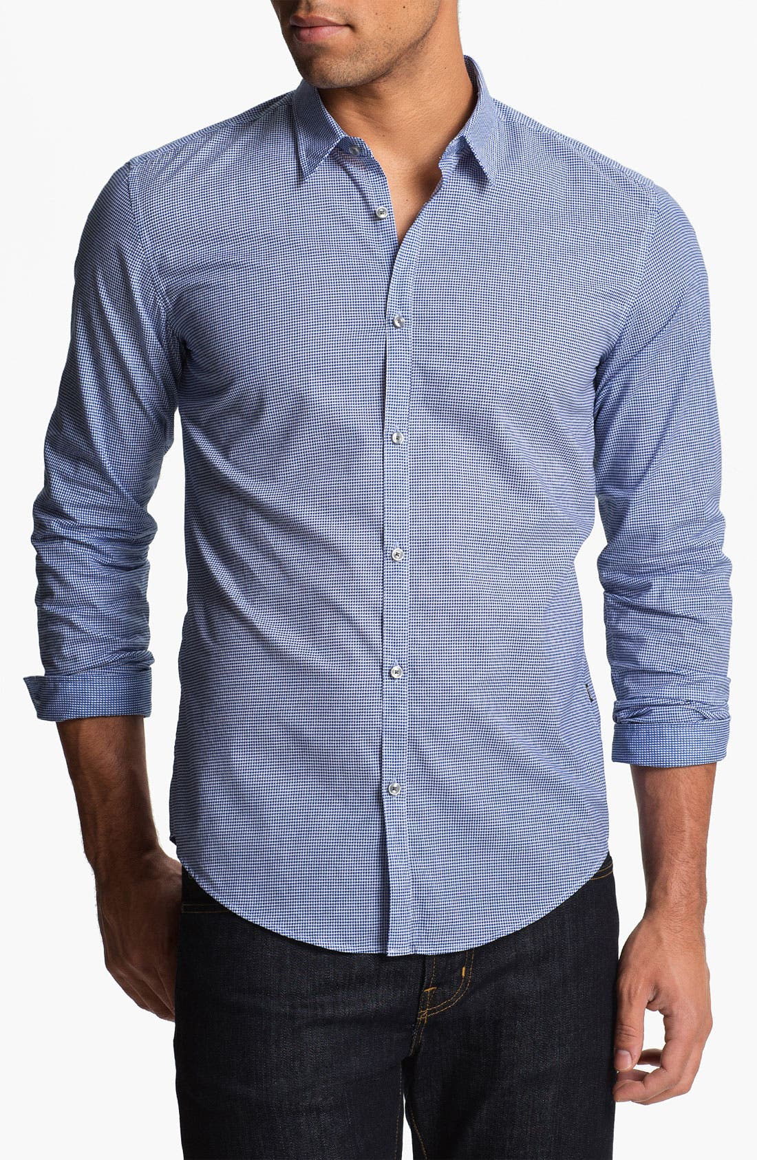 Alternate Image 1 Selected - BOSS Black 'Remus' Slim Fit Sport Shirt