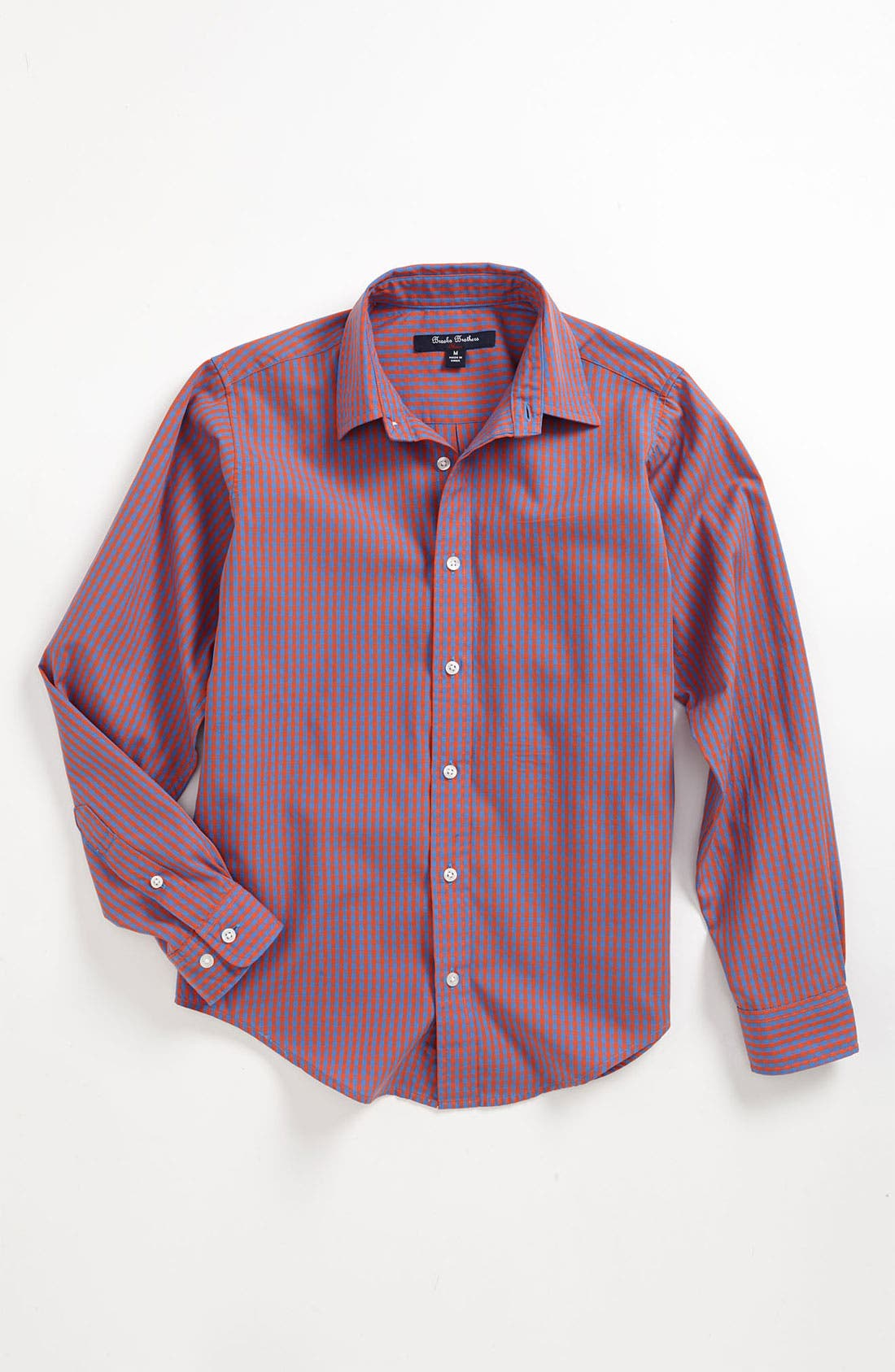 Main Image - Brooks Brothers Gingham Sport Shirt (Big Boys)