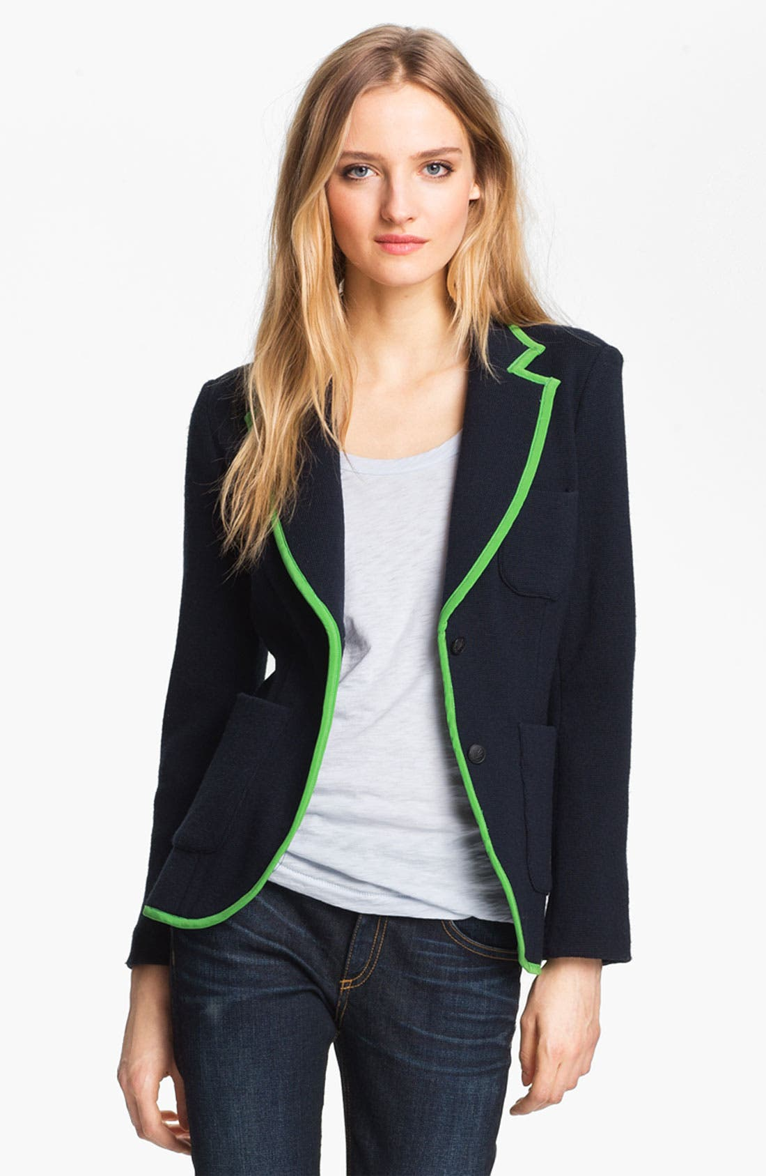 Alternate Image 1 Selected - rag & bone 'Bromley' Contrast Trim Wool Blazer