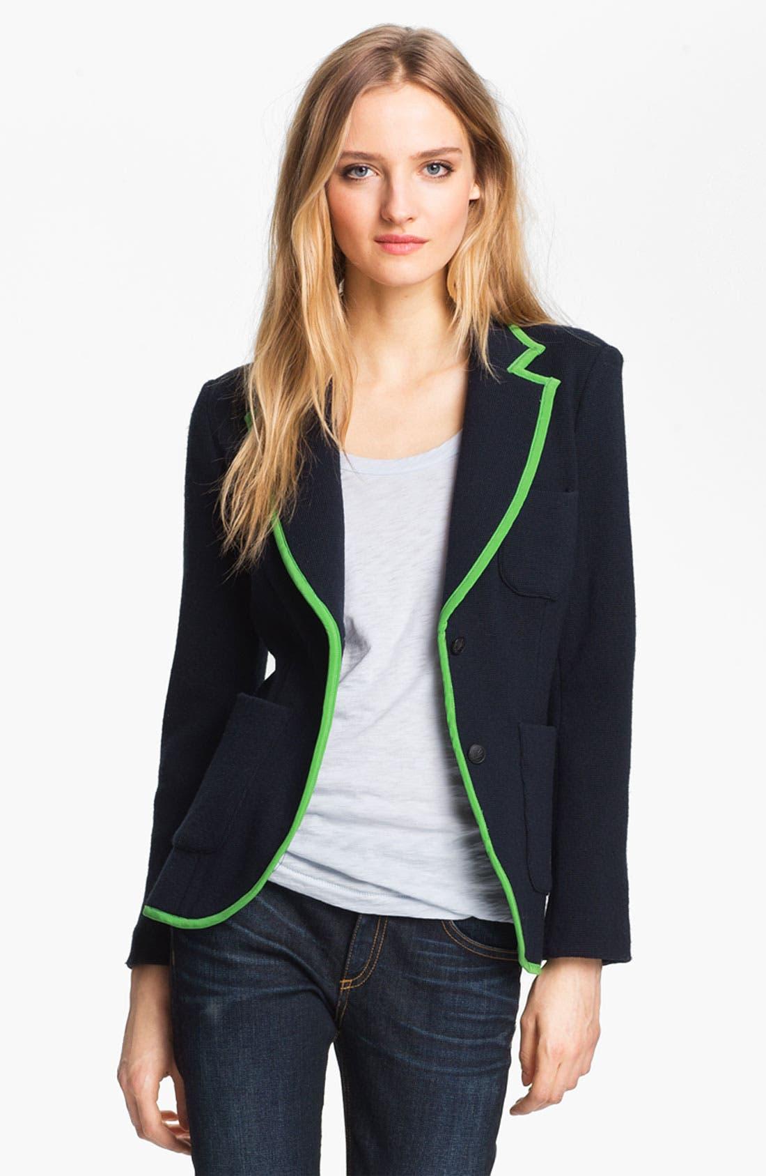 Main Image - rag & bone 'Bromley' Contrast Trim Wool Blazer