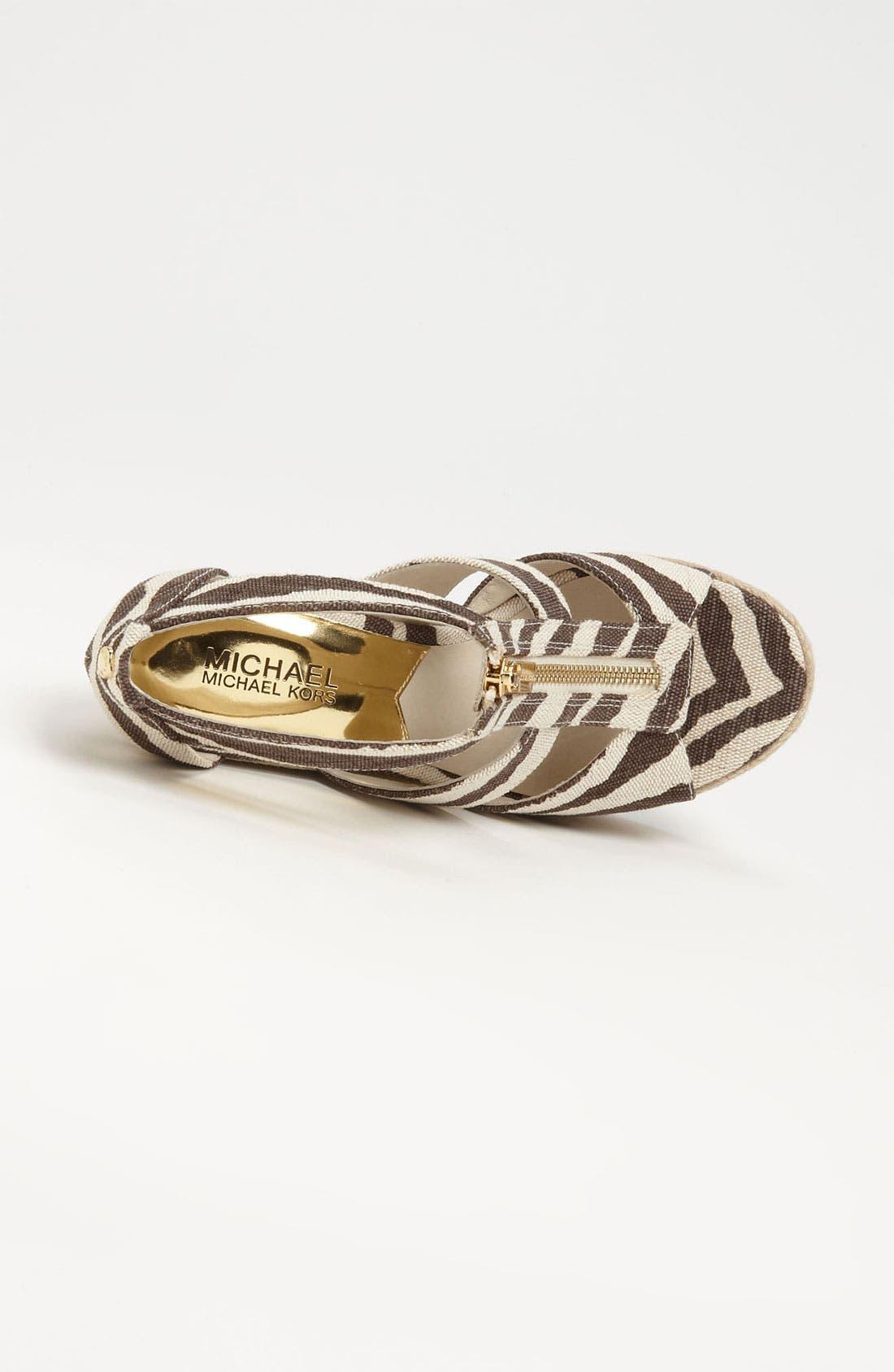 Alternate Image 3  - MICHAEL Michael Kors 'Damita' Wedge Sandal (Women)