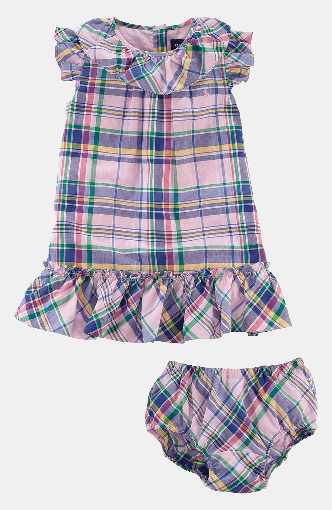 Alternate Image 2  - Ralph Lauren Madras Plaid Dress (Baby)