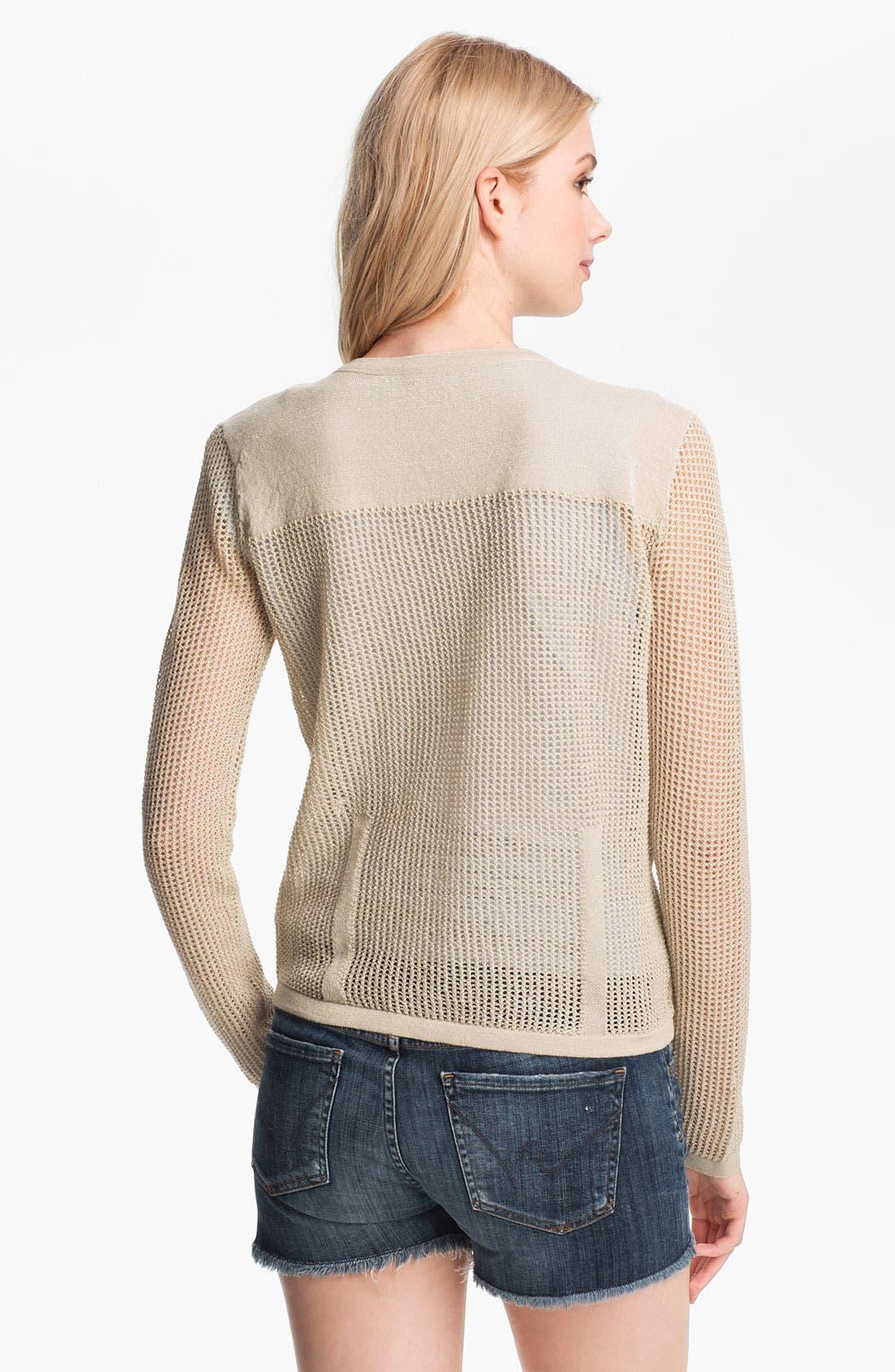 Alternate Image 2  - Trouvé Mesh Knit Cardigan