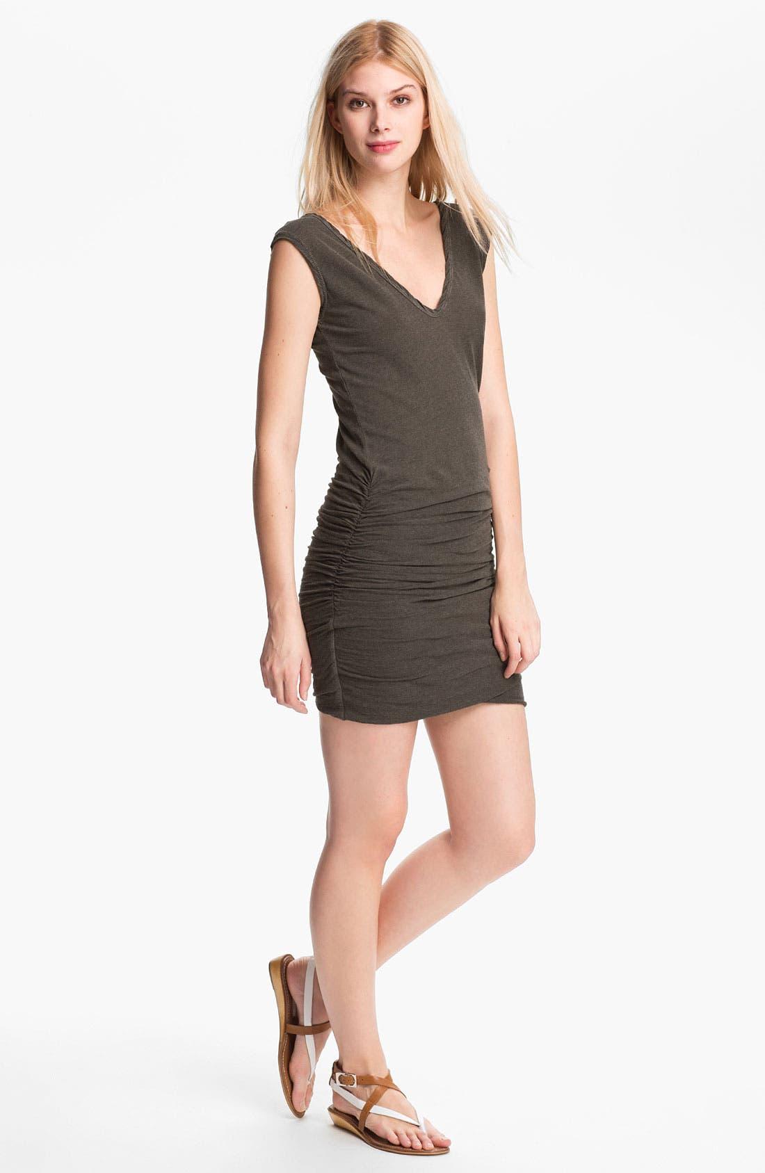 Alternate Image 1  - James Perse 'Ringer' Heathered Double V Dress