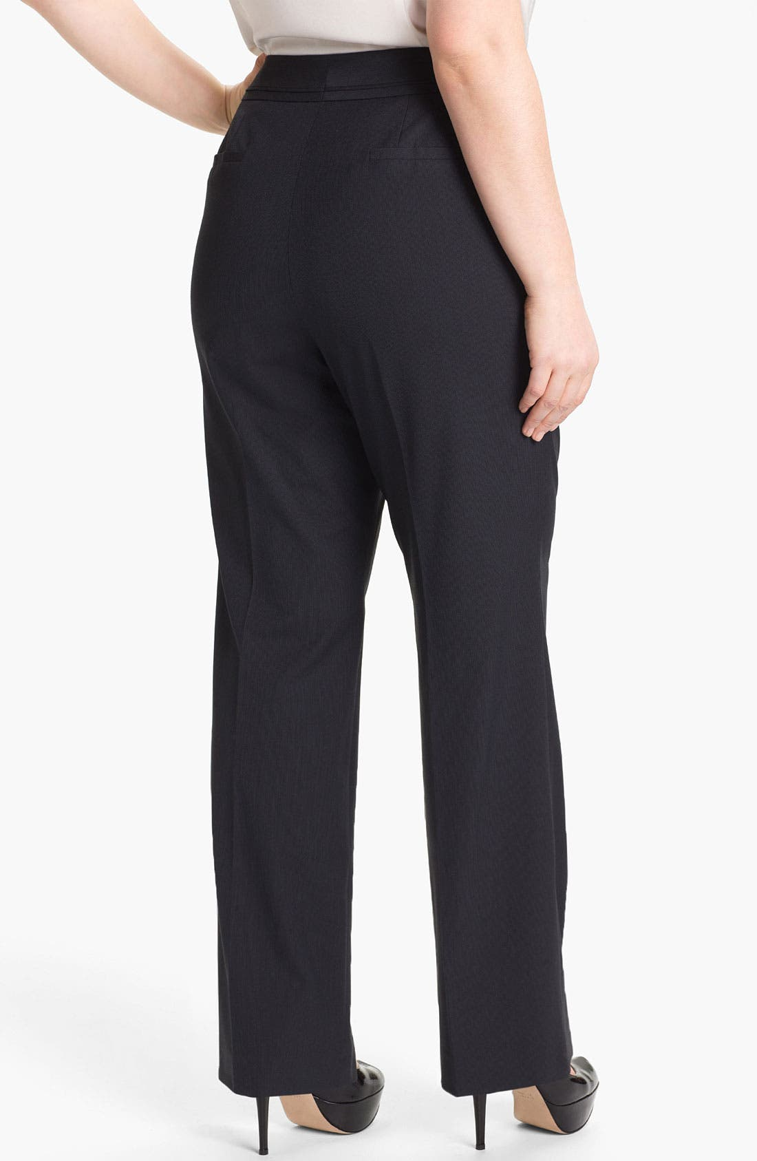 Alternate Image 2  - Sejour 'Boardwalk' Suit Pants (Plus Size)