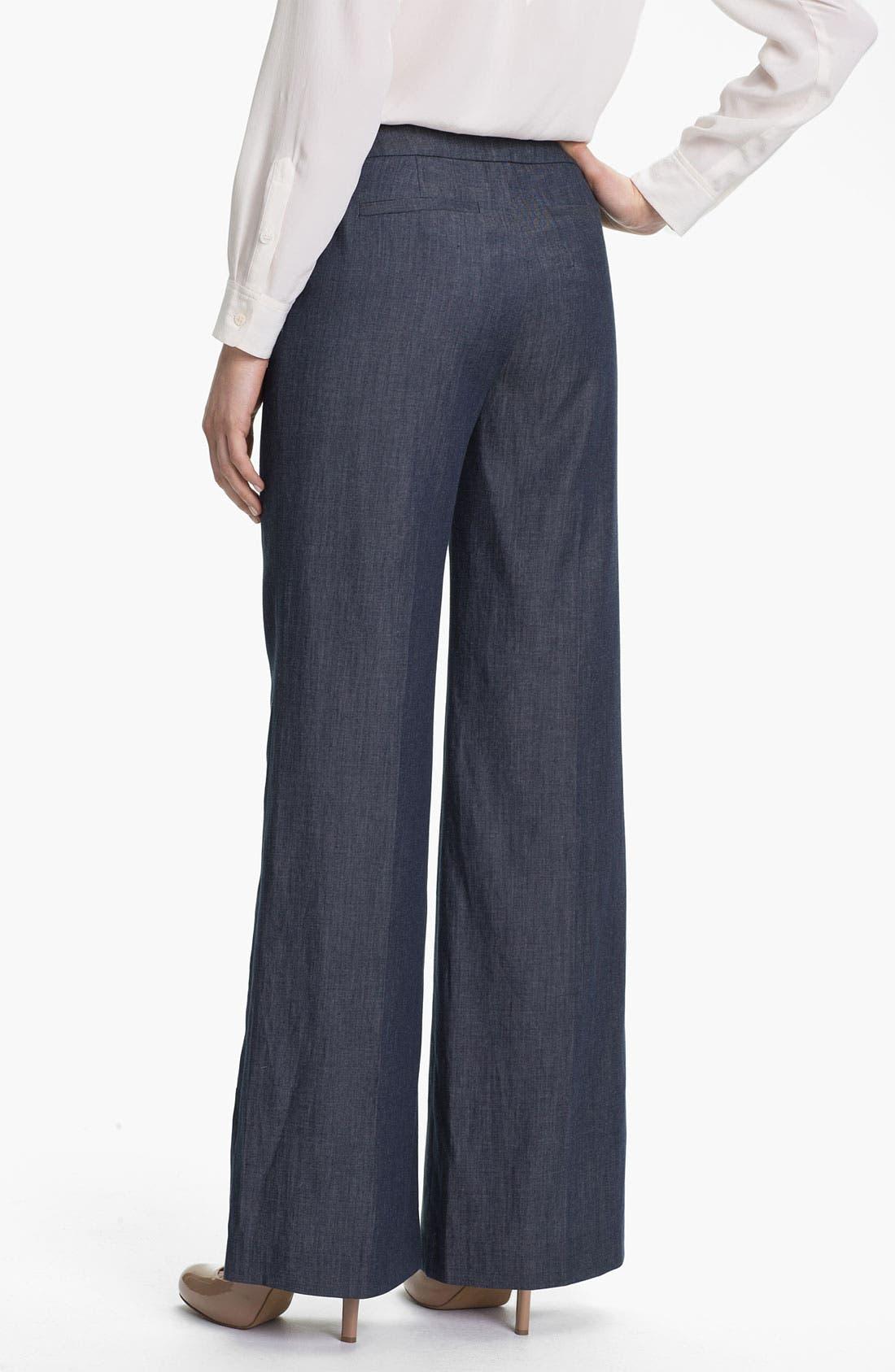 Alternate Image 2  - Halogen® Wide Leg Denim Pants