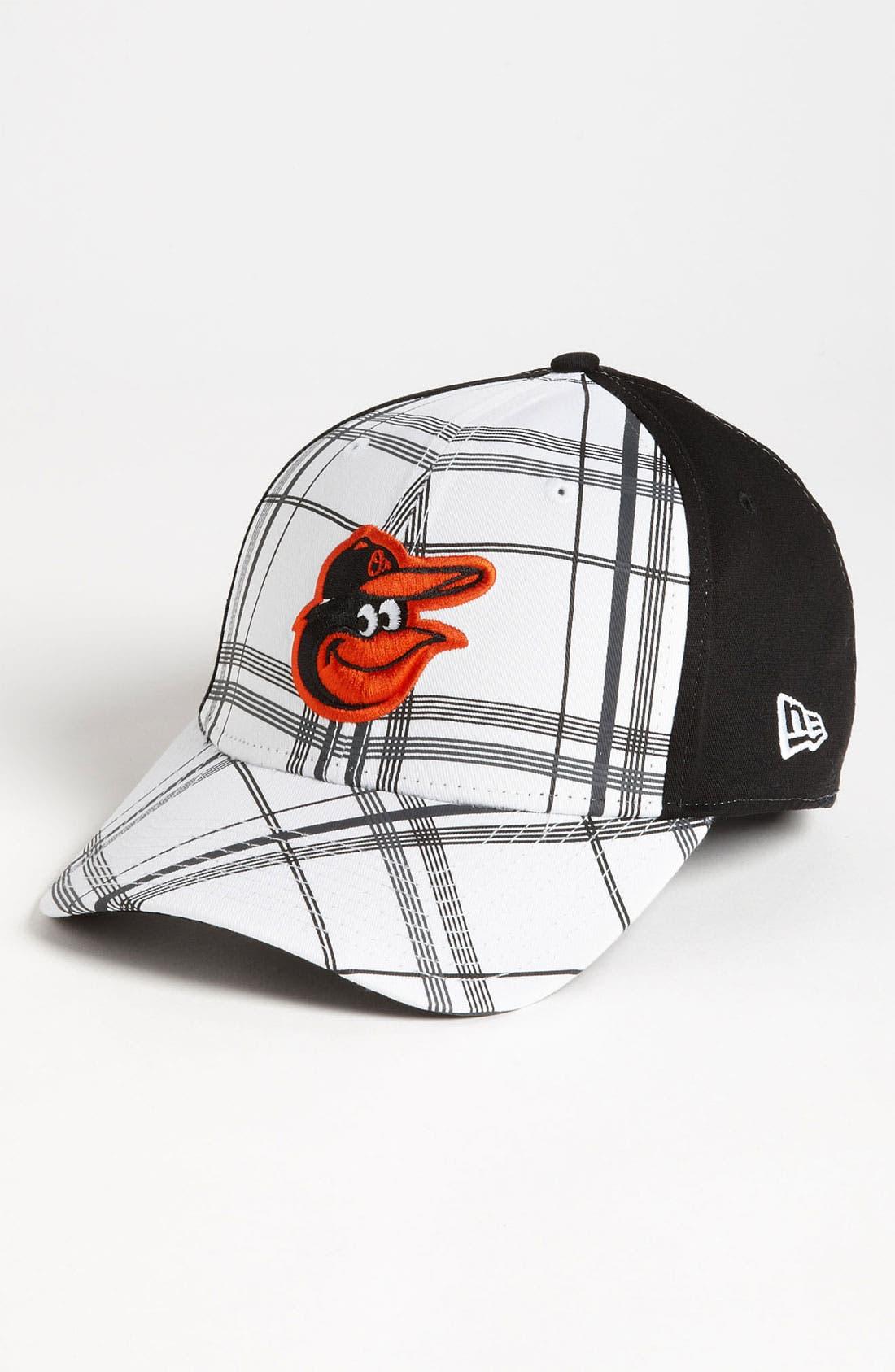 Main Image - New Era Cap 'Baltimore Orioles - Plaidtastic' Fitted Baseball Cap