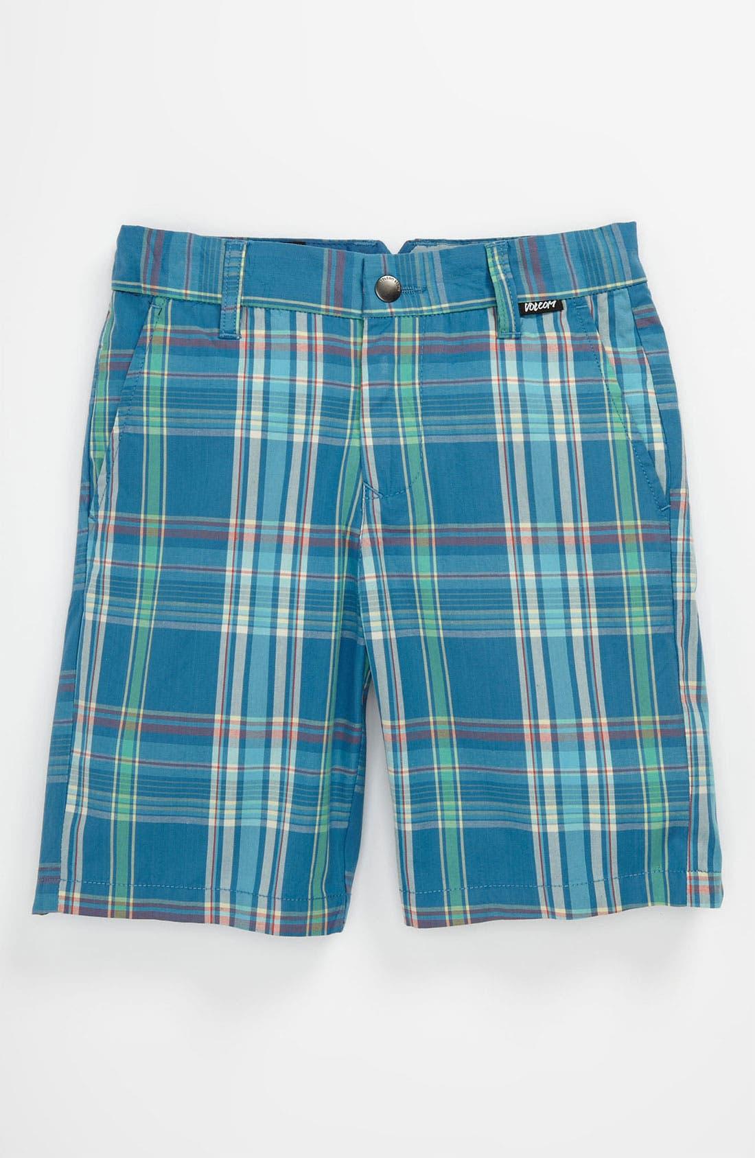 Alternate Image 1 Selected - Volcom 'Rushy' Plaid Shorts (Little Boys)