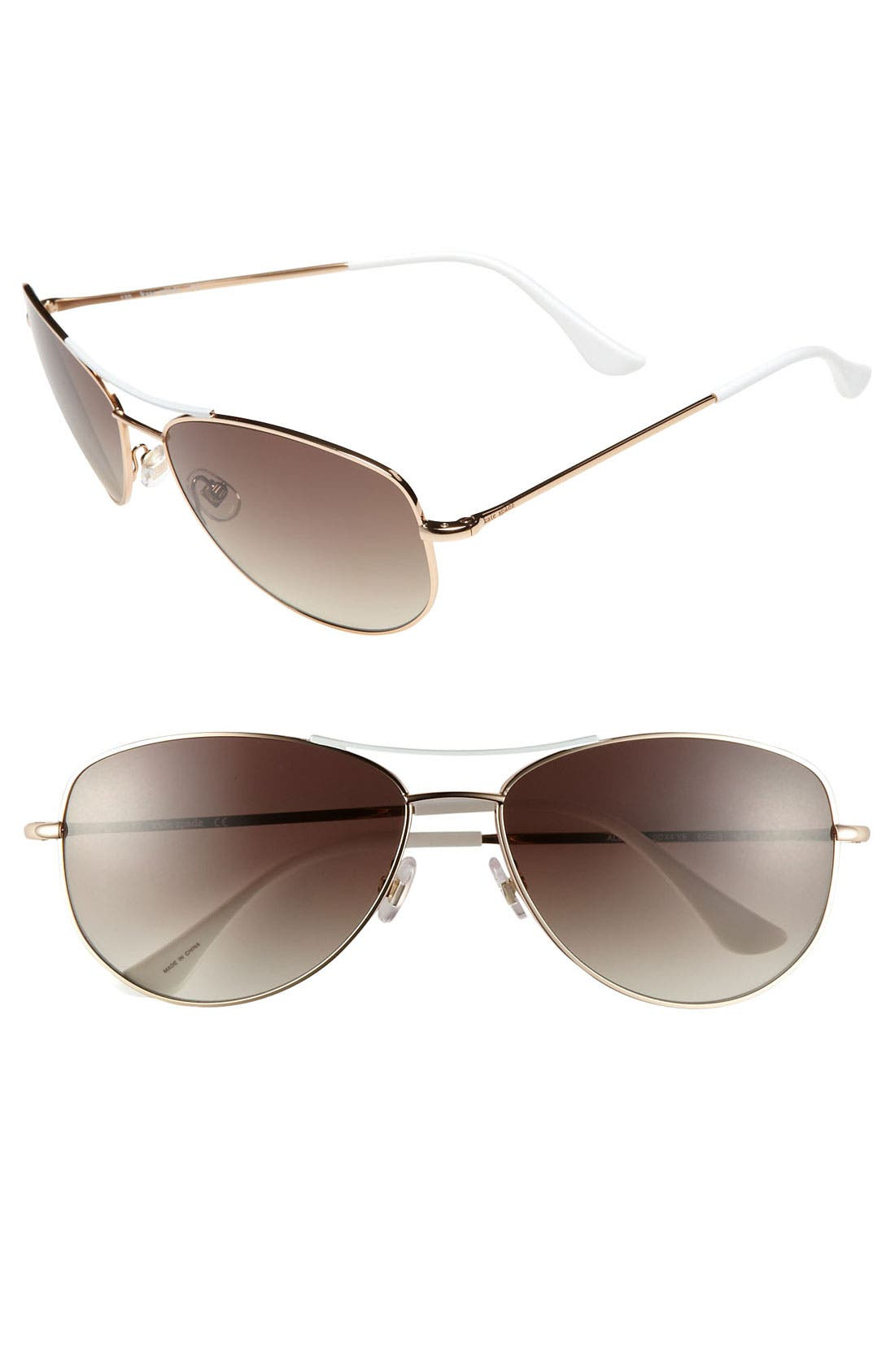 Alternate Image 1 Selected - kate spade new york 'ally 3' 60mm aviator sunglasses