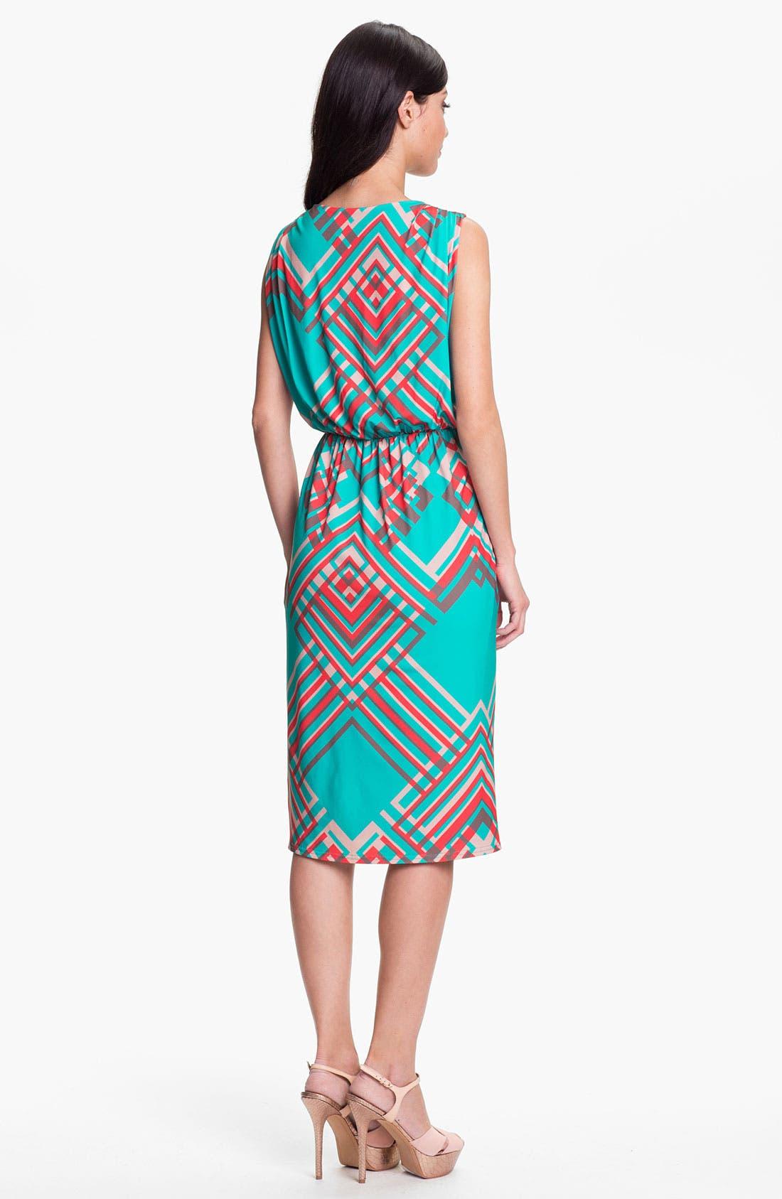 Alternate Image 2  - Jessica Simpson 'Argyle Bluebird' Faux Wrap Dress