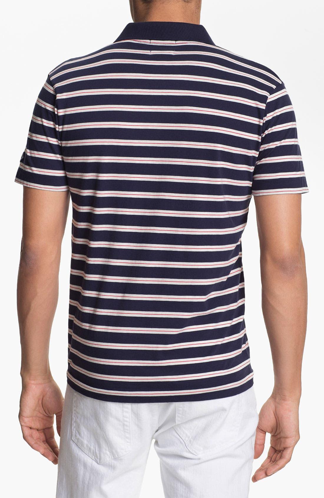 Alternate Image 2  - Gant Rugger Stripe Jersey Polo