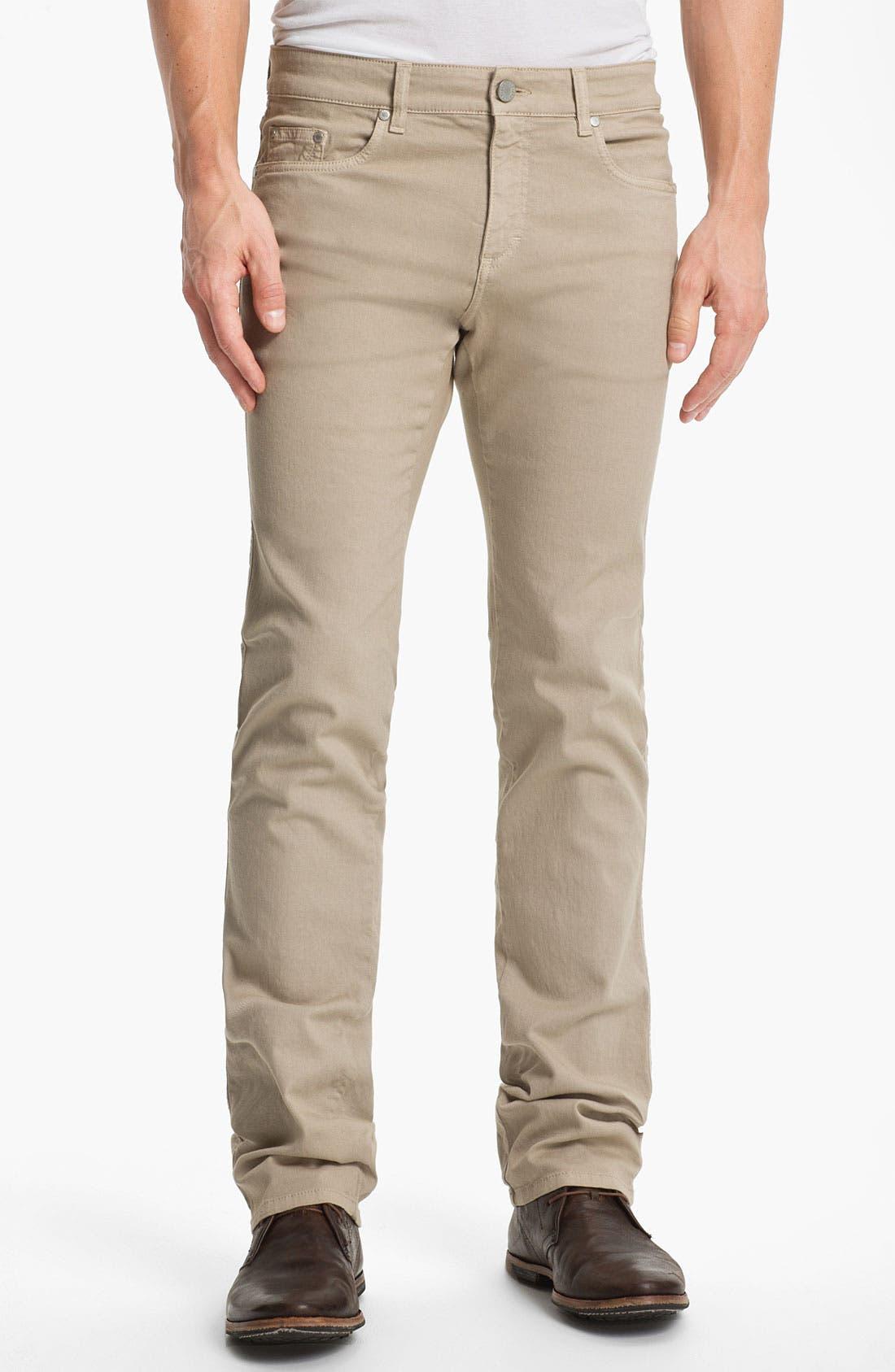 Main Image - Z Zegna Straight Leg Jeans (Light Beige)