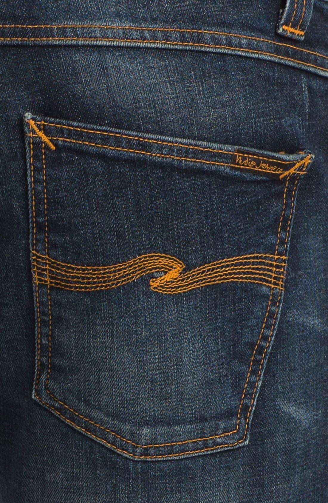 Alternate Image 4  - Nudie 'Grim Tim' Skinny Straight Leg Jeans (Organic Crushed Denim)