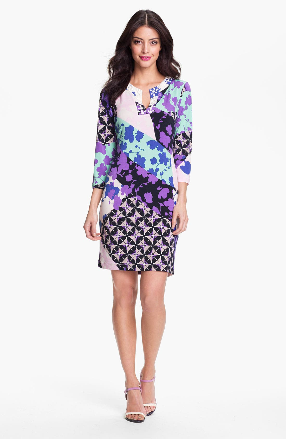 Main Image - Donna Morgan 'Misha' Print Shift Dress