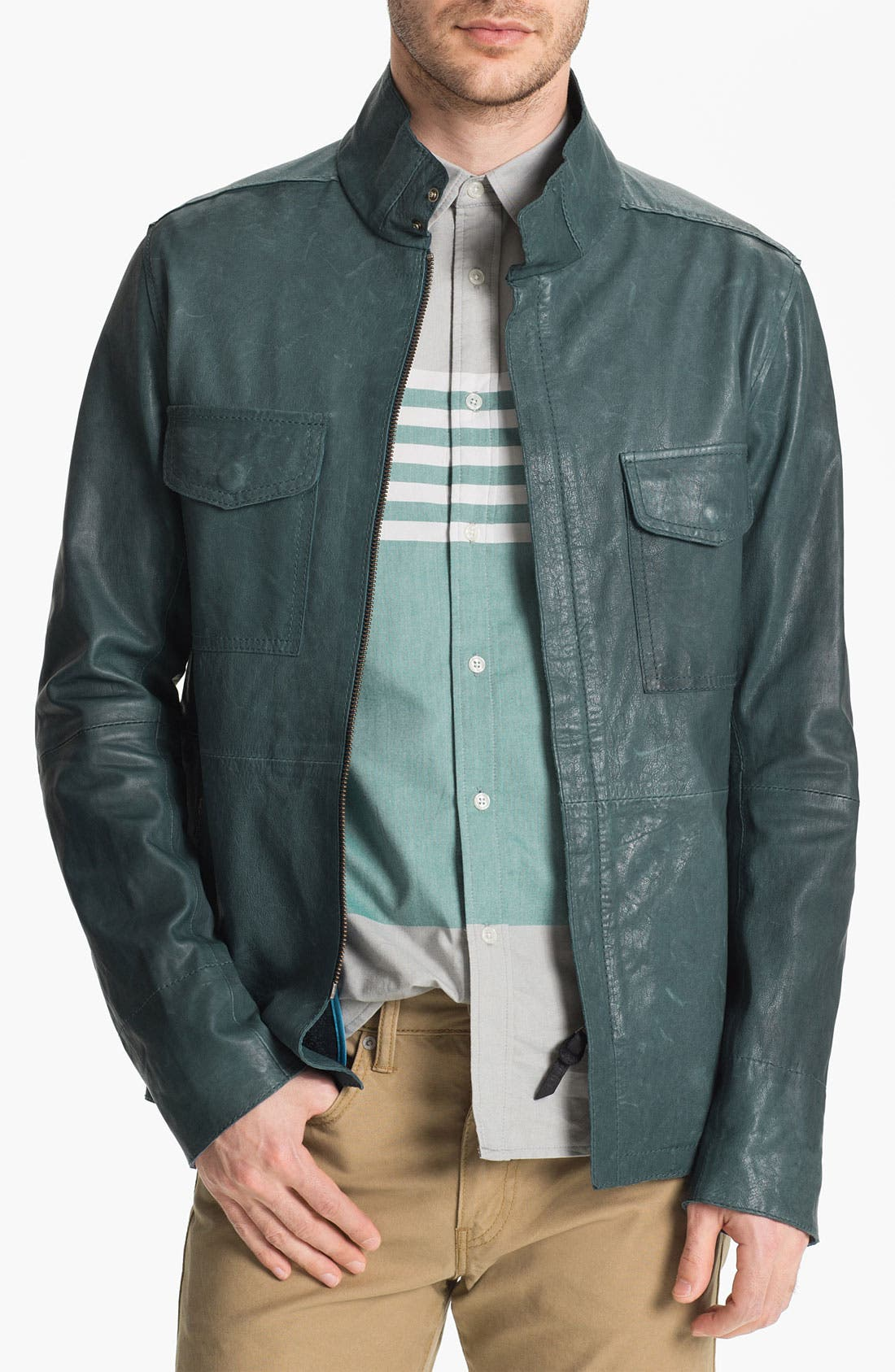 Alternate Image 1 Selected - Edun Leather Field Jacket