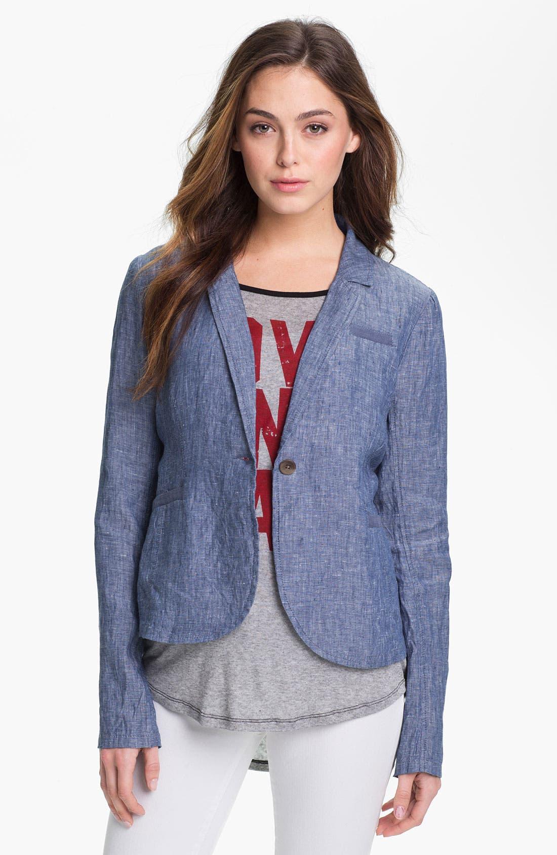 Alternate Image 1 Selected - Caslon Casual Linen Jacket