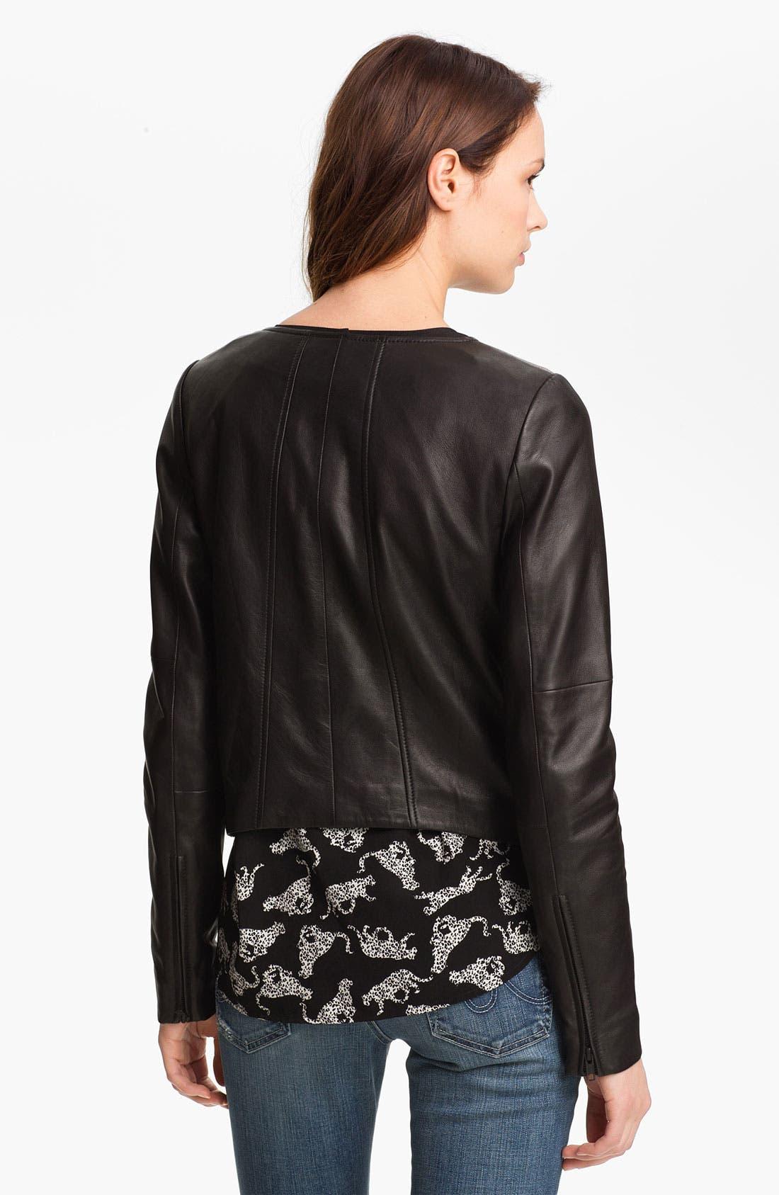 Alternate Image 2  - Trouvé Double Zip Leather Jacket