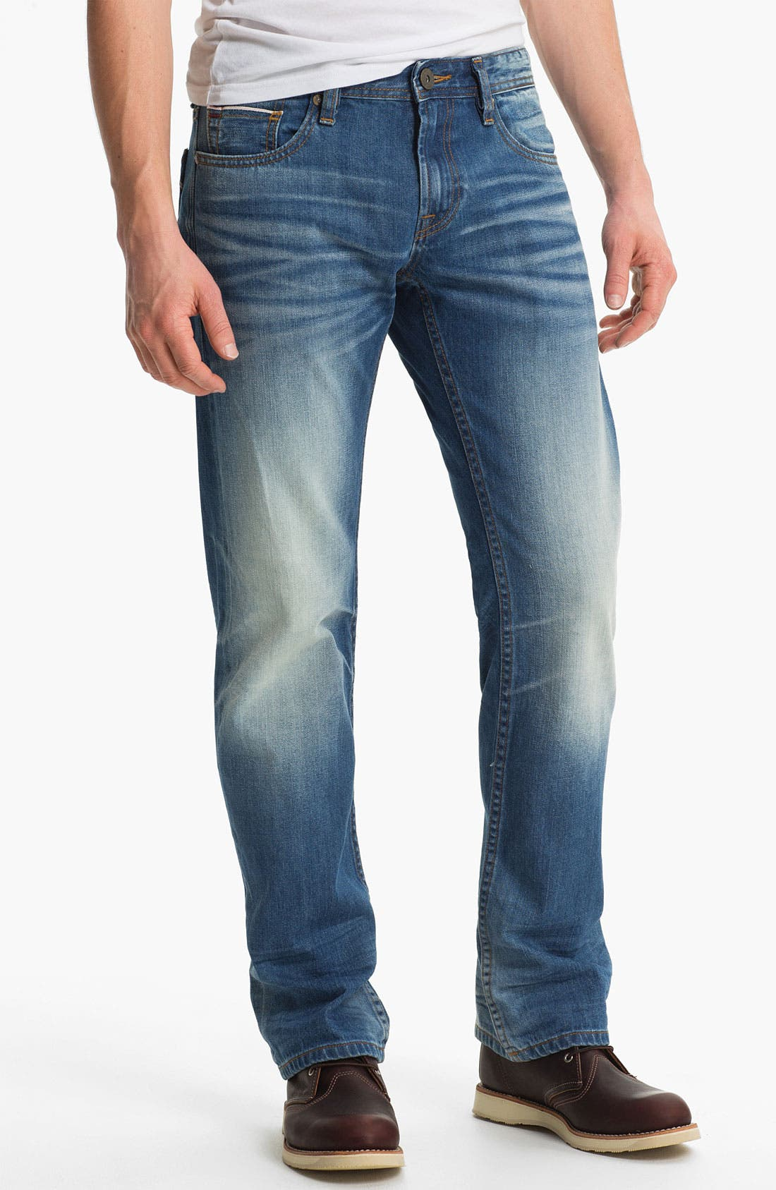 Alternate Image 2  - Cult of Individuality 'Rebel' Straight Leg Selvedge Jeans (Crafted)