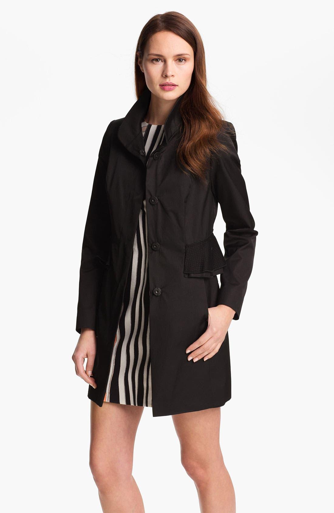 Alternate Image 2  - Tahari 'Jenna' Peplum Walking Coat (Online Only)