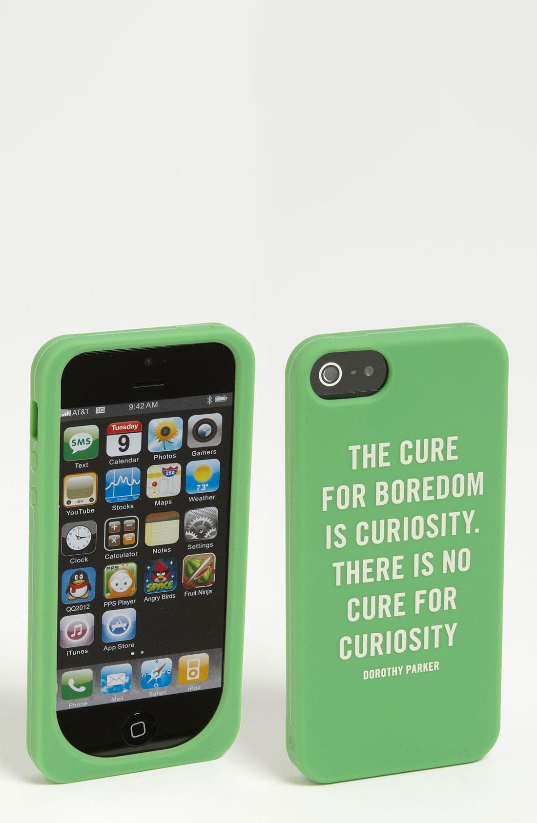 Alternate Image 1 Selected - kate spade new york 'curiosity quote' iPhone 5 & 5S case