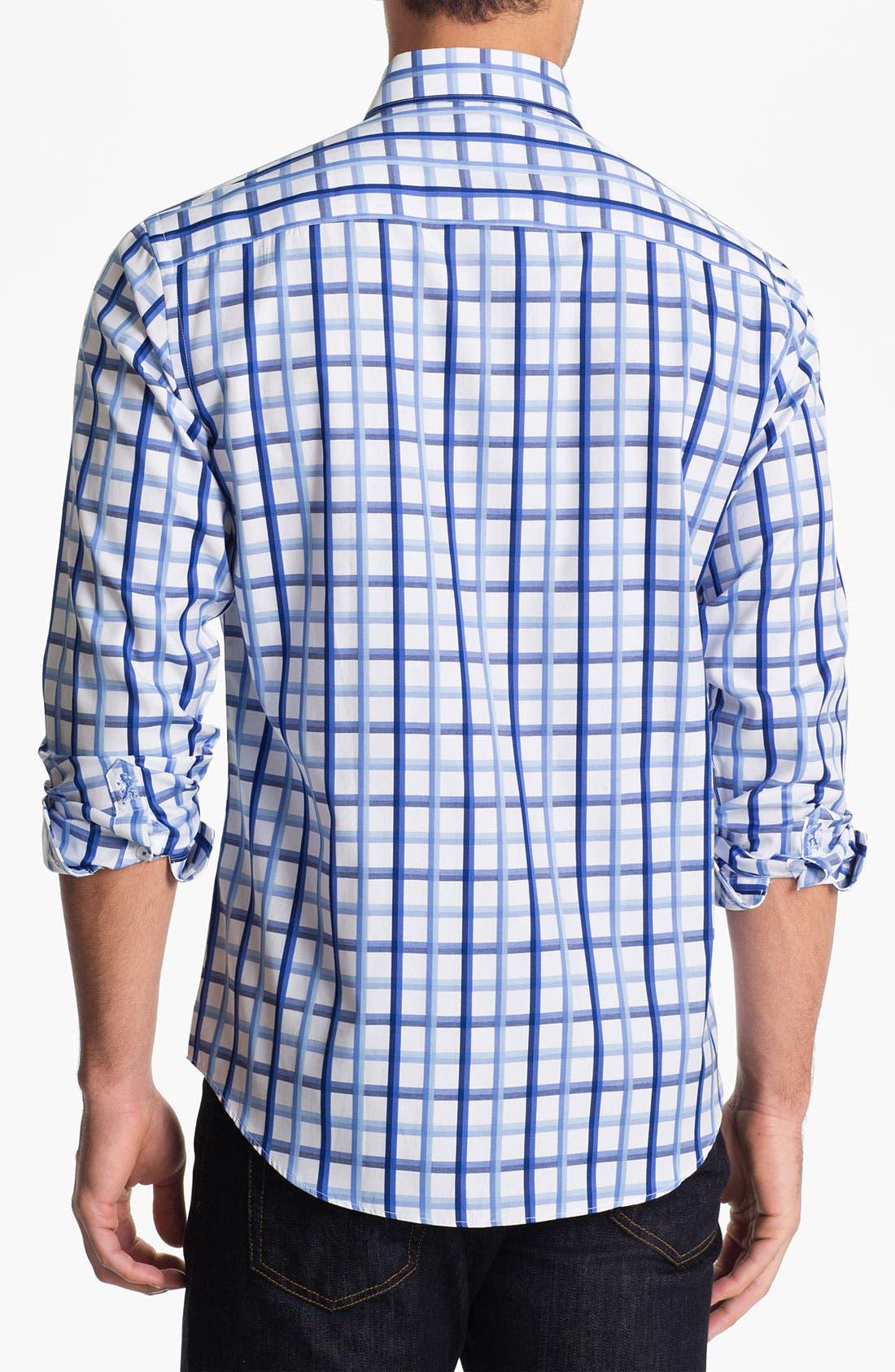 Alternate Image 2  - BUGATCHI Shaped Fit Sport Shirt (Tall)