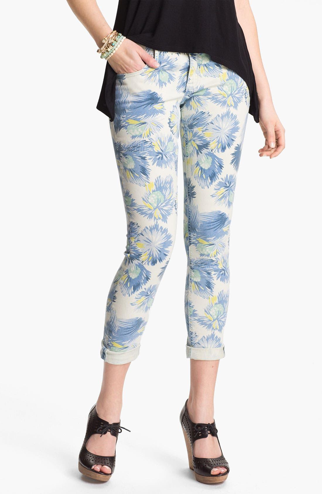 Alternate Image 2  - Vigoss 'Thompson' Print Crop Skinny Jeans (Juniors)