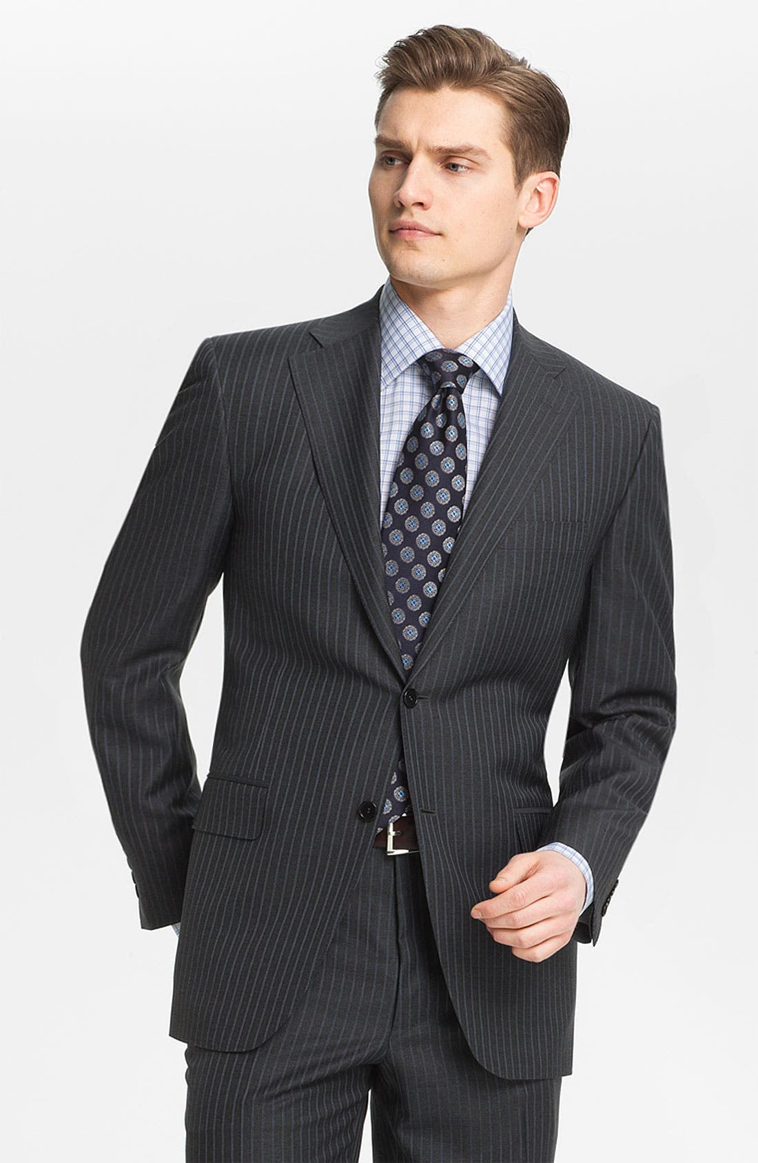 Main Image - Canali Stripe Wool Suit