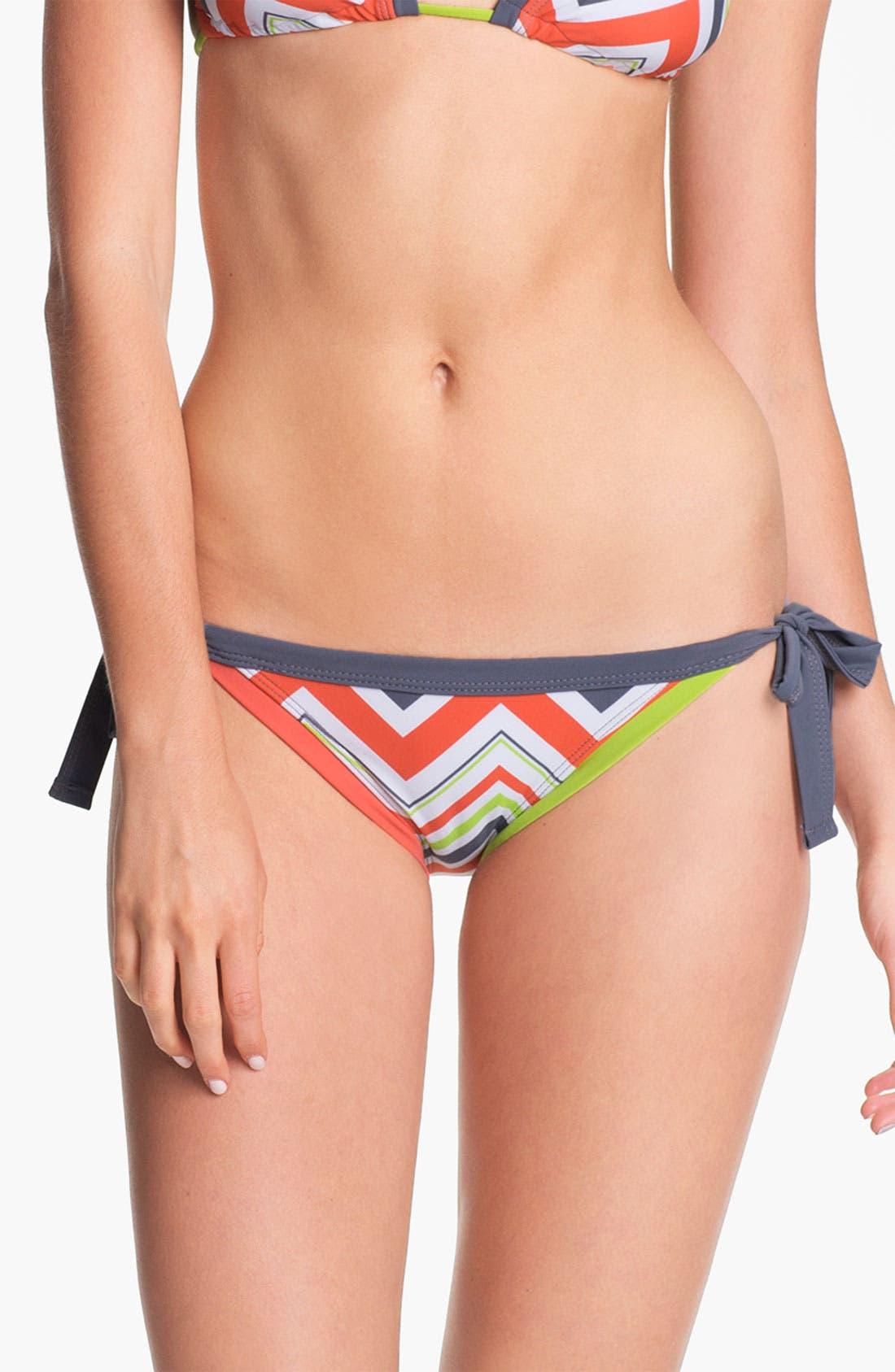 Alternate Image 2  - BCA Chevron Stripe Side Tie Bikini Bottoms
