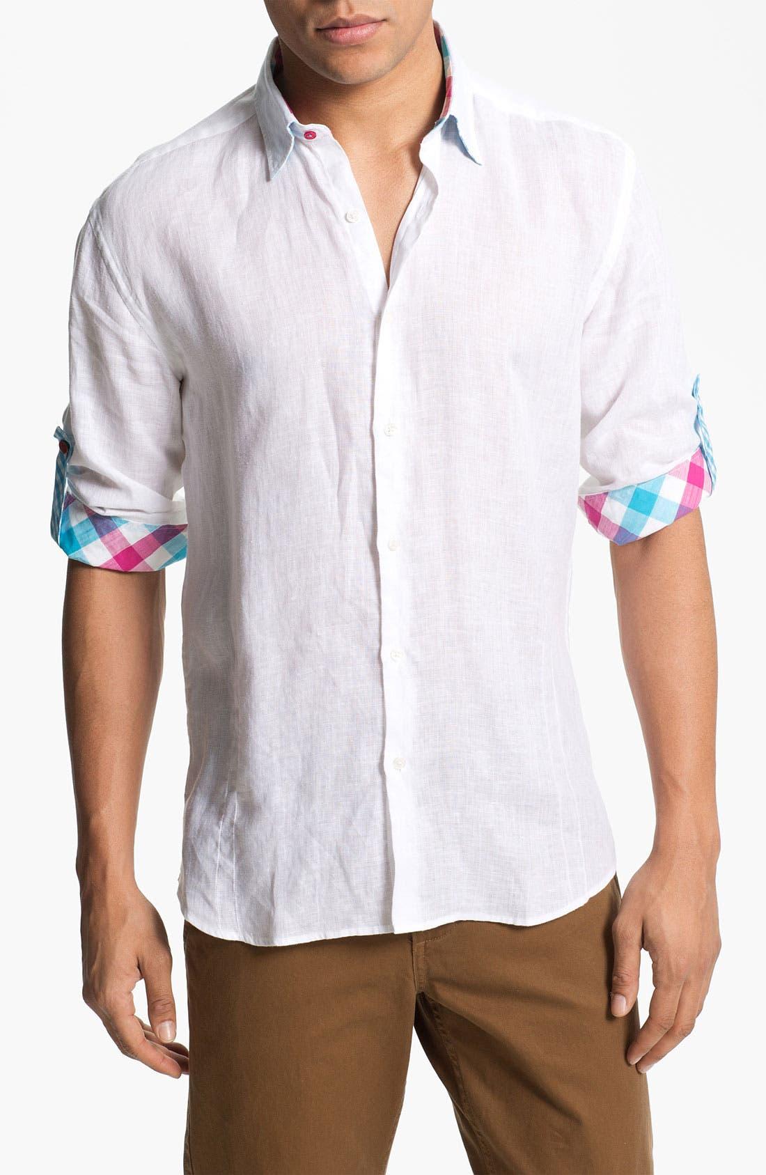 Alternate Image 1 Selected - Stone Rose Linen Woven Shirt