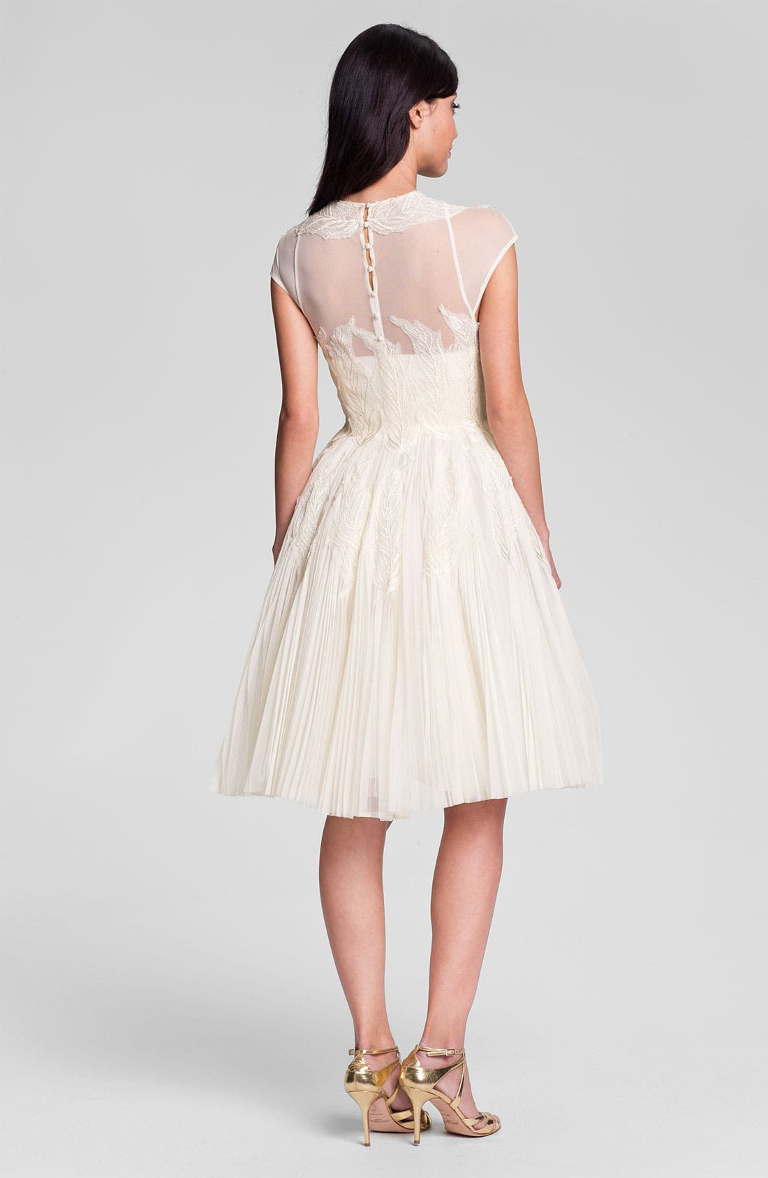 Alternate Image 2  - Ted Baker London 'Miyaa' Embroidered Mesh Fit & Flare Dress