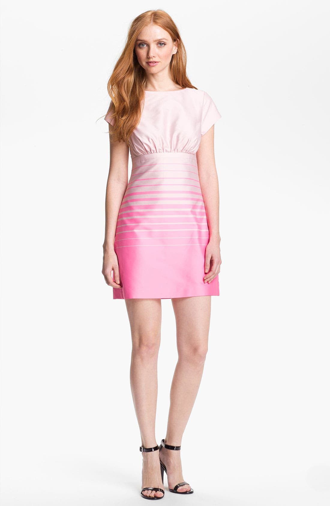 Alternate Image 1 Selected - Ted Baker London Stripe A-Line Dress (Online Only)