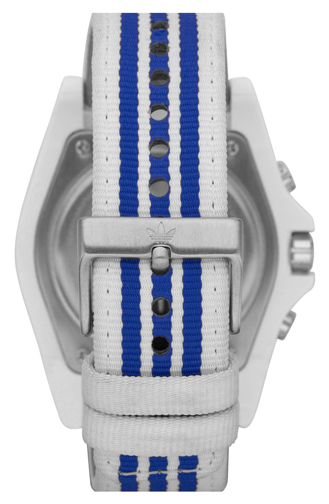 Alternate Image 3  - adidas Originals 'Stockholm' Nylon Strap Watch, 44mm