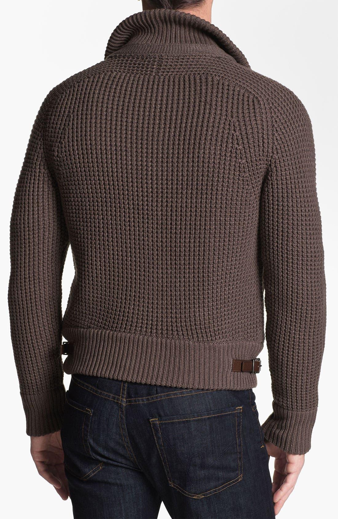 Alternate Image 2  - Burberry Brit 'Acton' Knit Bomber Jacket