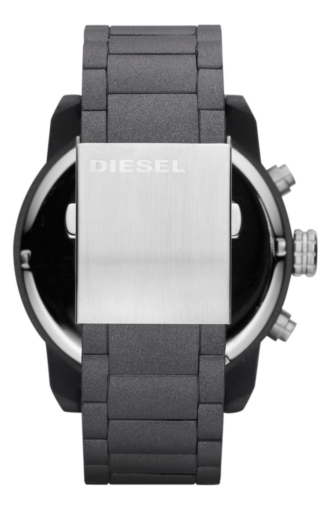 Alternate Image 3  - DIESEL® 'Double Down' Oversized Chronograph Bracelet Watch, 52mm