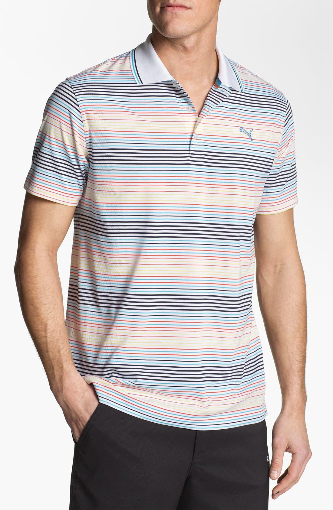 Main Image - PUMA GOLF Stripe Jacquard Polo